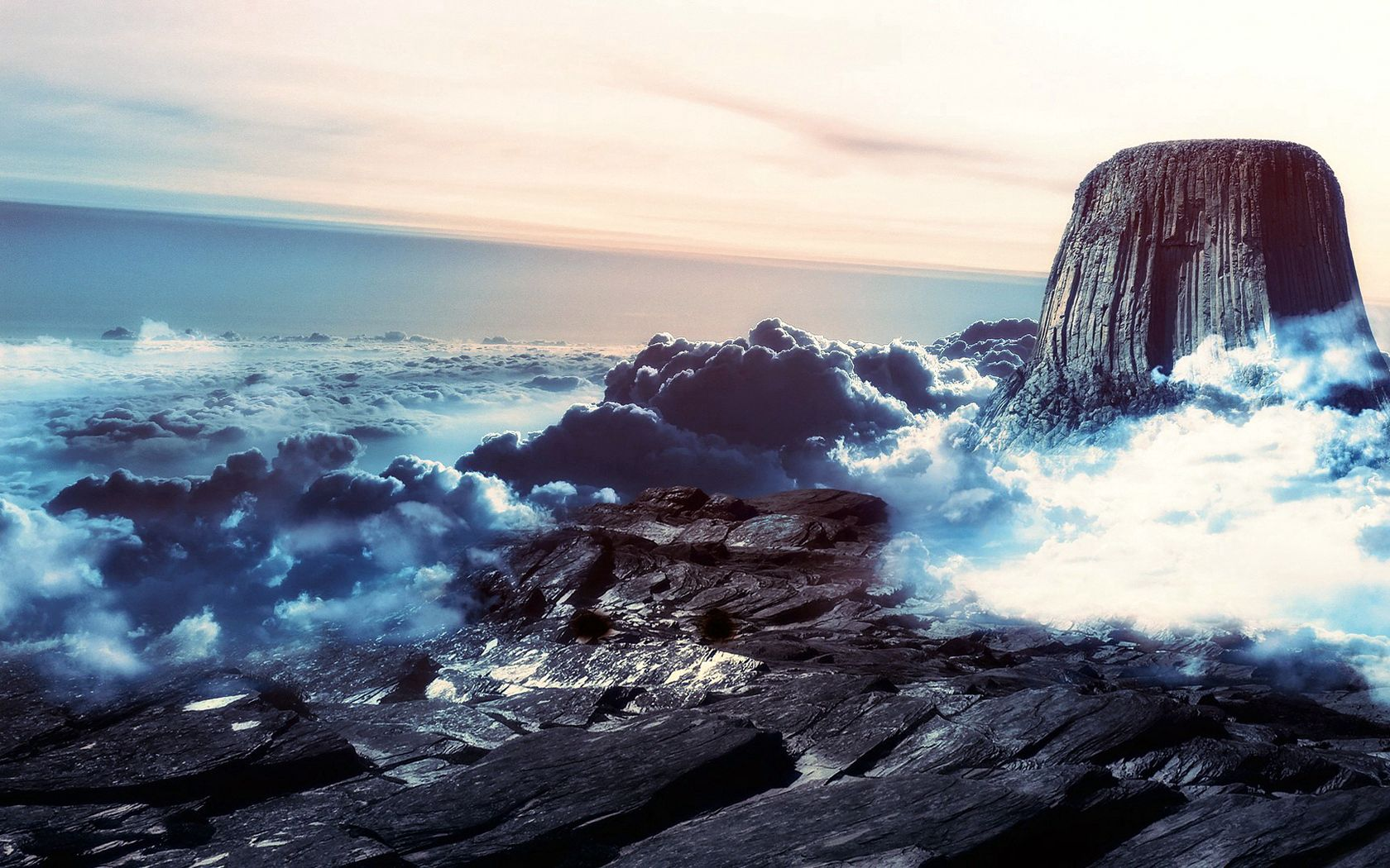 120261 download wallpaper Nature, Stone, Vertex, Top, Ridge, Spine, Clouds, Height, Mountains screensavers and pictures for free