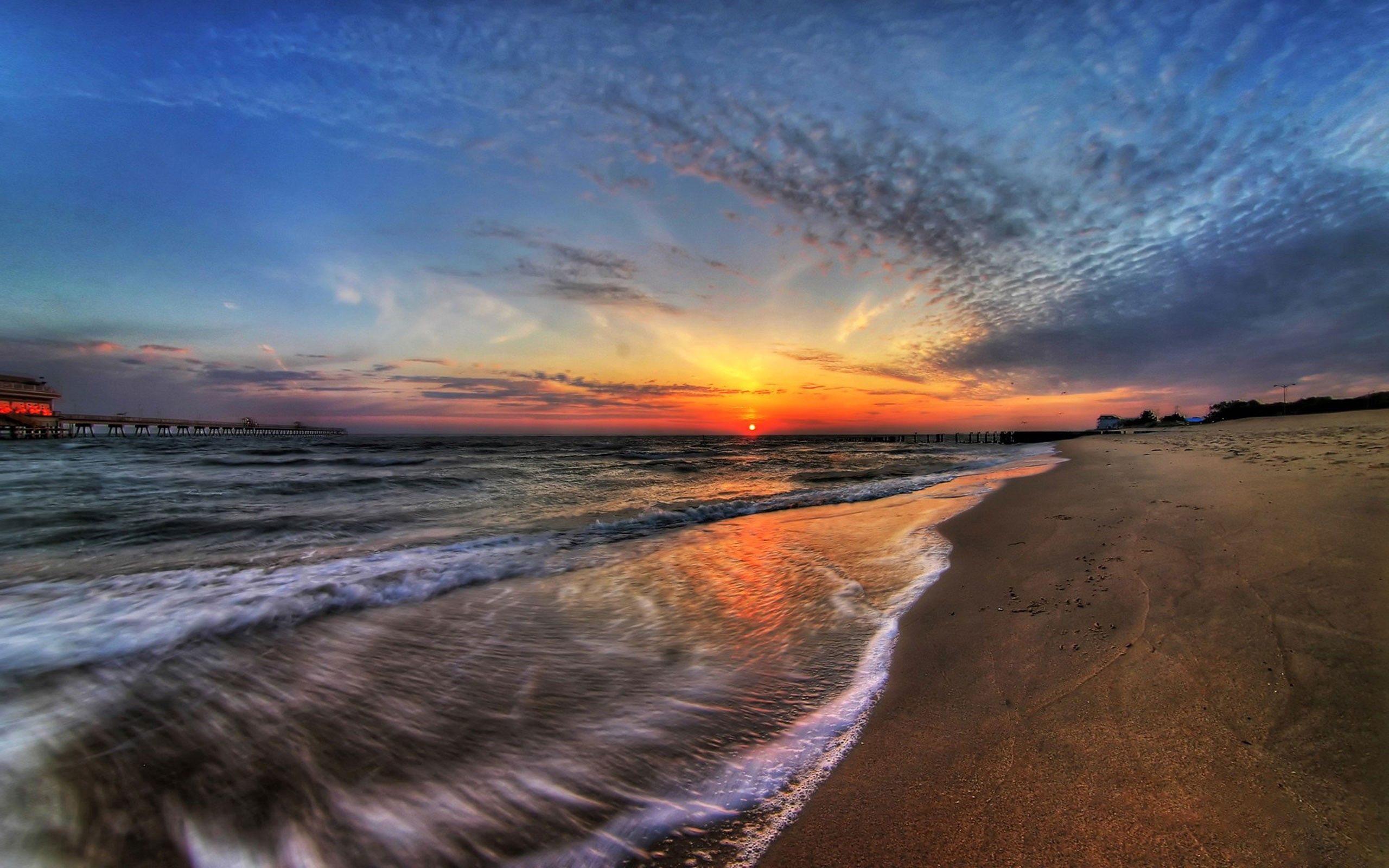 76581 download wallpaper Sky, Nature, Sunset, Sea, Surf screensavers and pictures for free