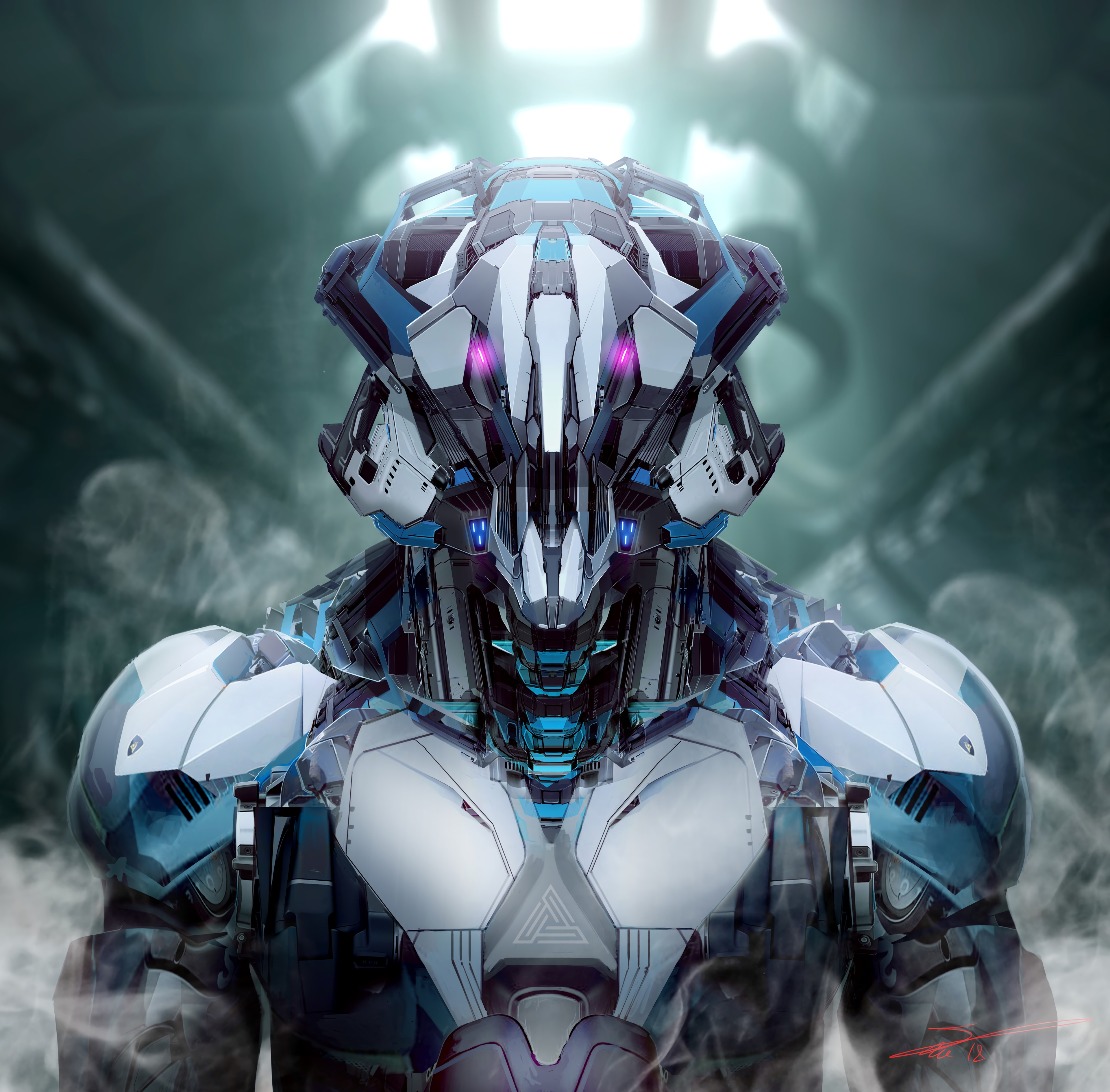 128861 Screensavers and Wallpapers Robot for phone. Download Art, Smoke, Robot, Iron, Mechanical pictures for free