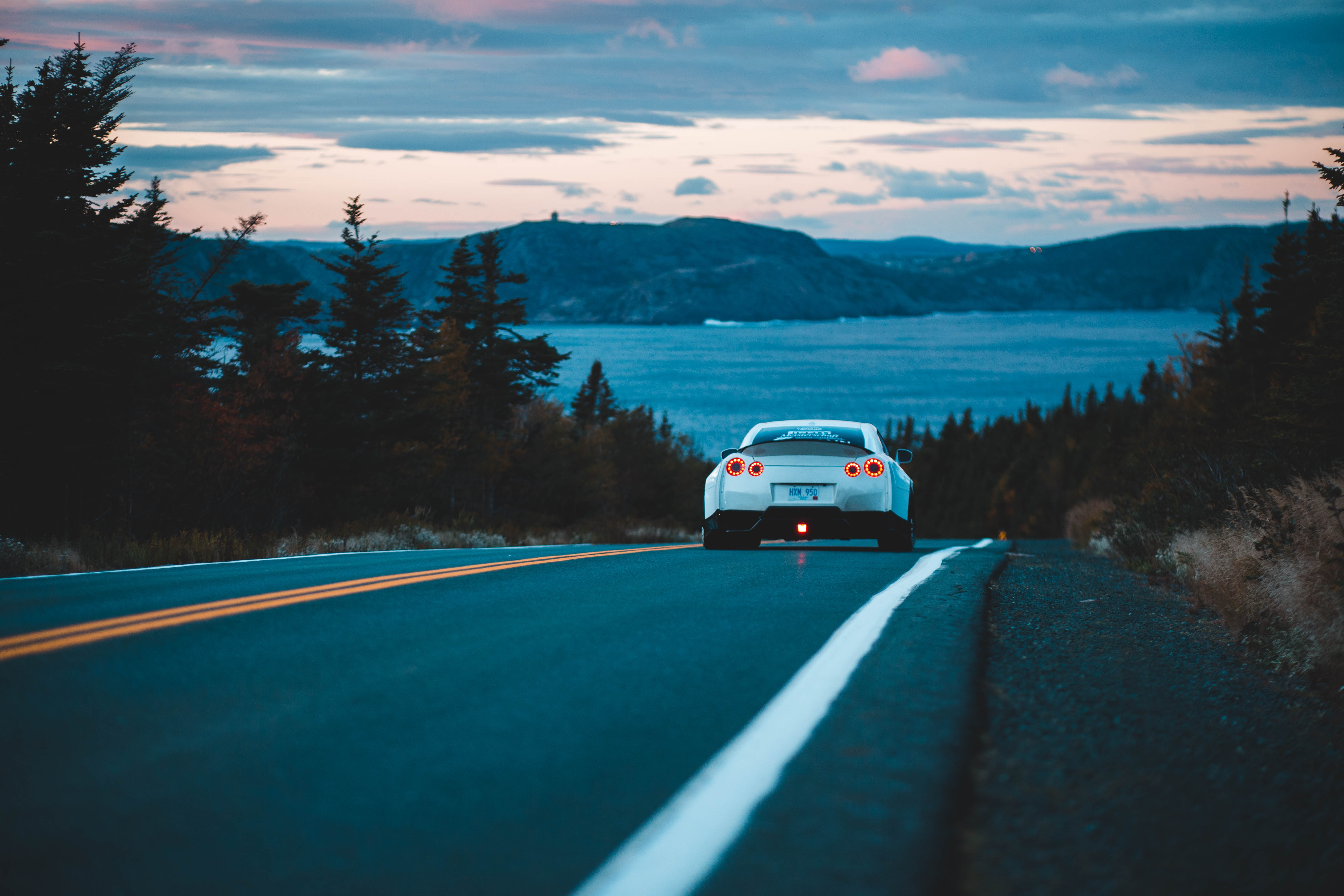 154962 Screensavers and Wallpapers Road for phone. Download Nissan, Cars, Road, Traffic, Movement, Back View, Rear View, Nissan Gt-R pictures for free