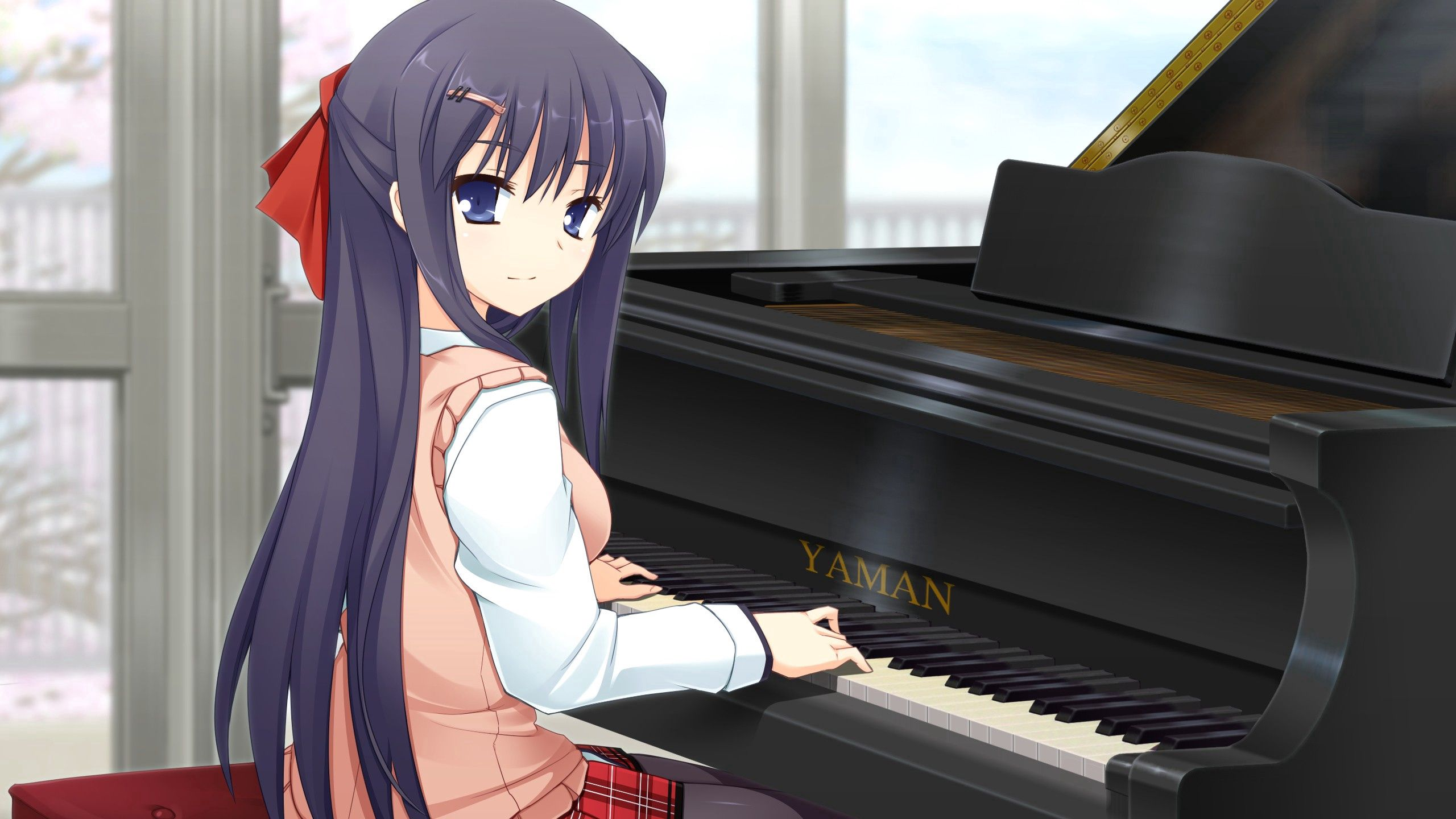 99116 Screensavers and Wallpapers Brunette for phone. Download Anime, Piano, Girl, Game, Brunette, Grand Piano pictures for free