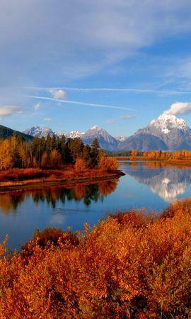 56477 Заставки и Обои Река на телефон. Скачать Осень, Река, Небо, Природа картинки бесплатно