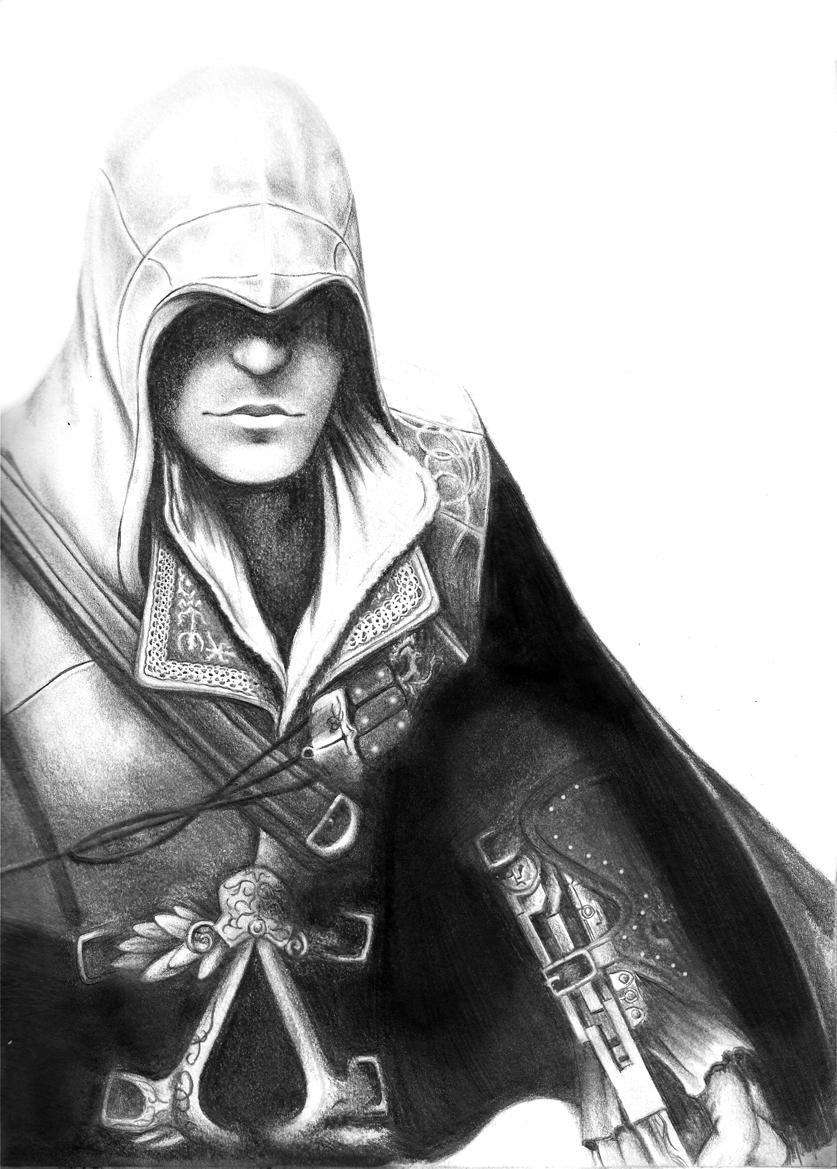 18974 скачать обои Игры, Люди, Мужчины, Кредо Убийцы (Assassin's Creed), Рисунки - заставки и картинки бесплатно