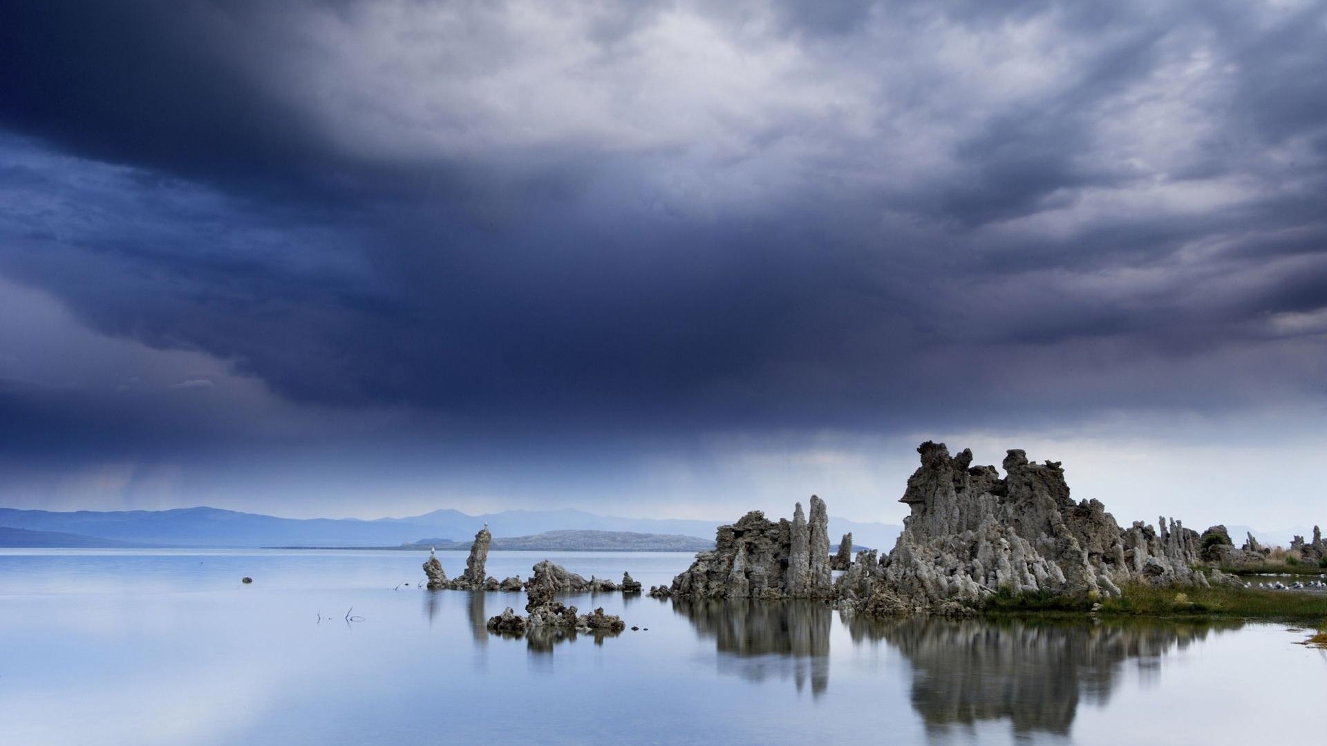24529 скачать обои Пейзаж, Горы, Облака, Озера - заставки и картинки бесплатно