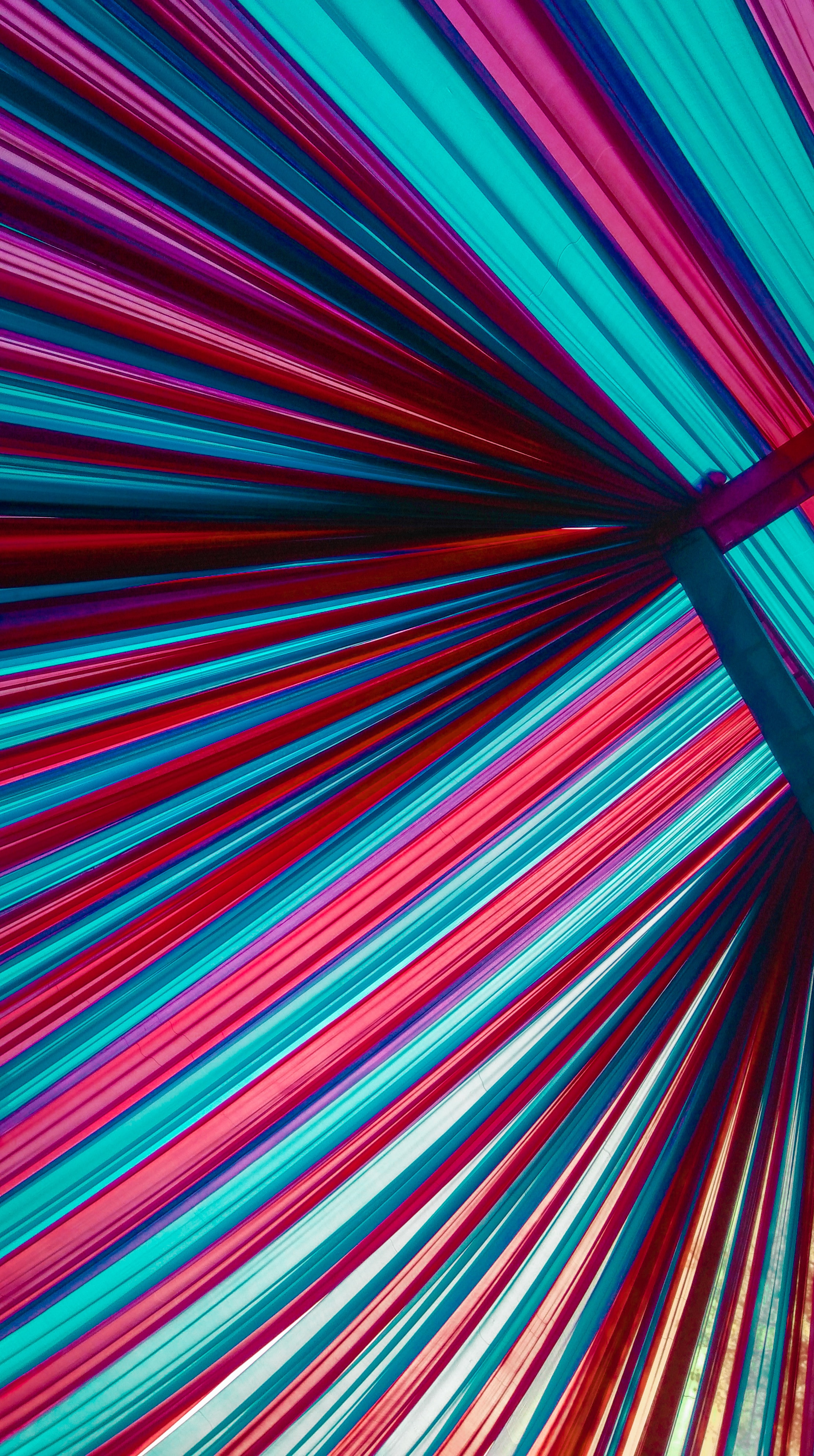 132669 Screensavers and Wallpapers Stripes for phone. Download Multicolored, Motley, Lines, Minimalism, Neon, Backlight, Illumination, Stripes, Streaks pictures for free