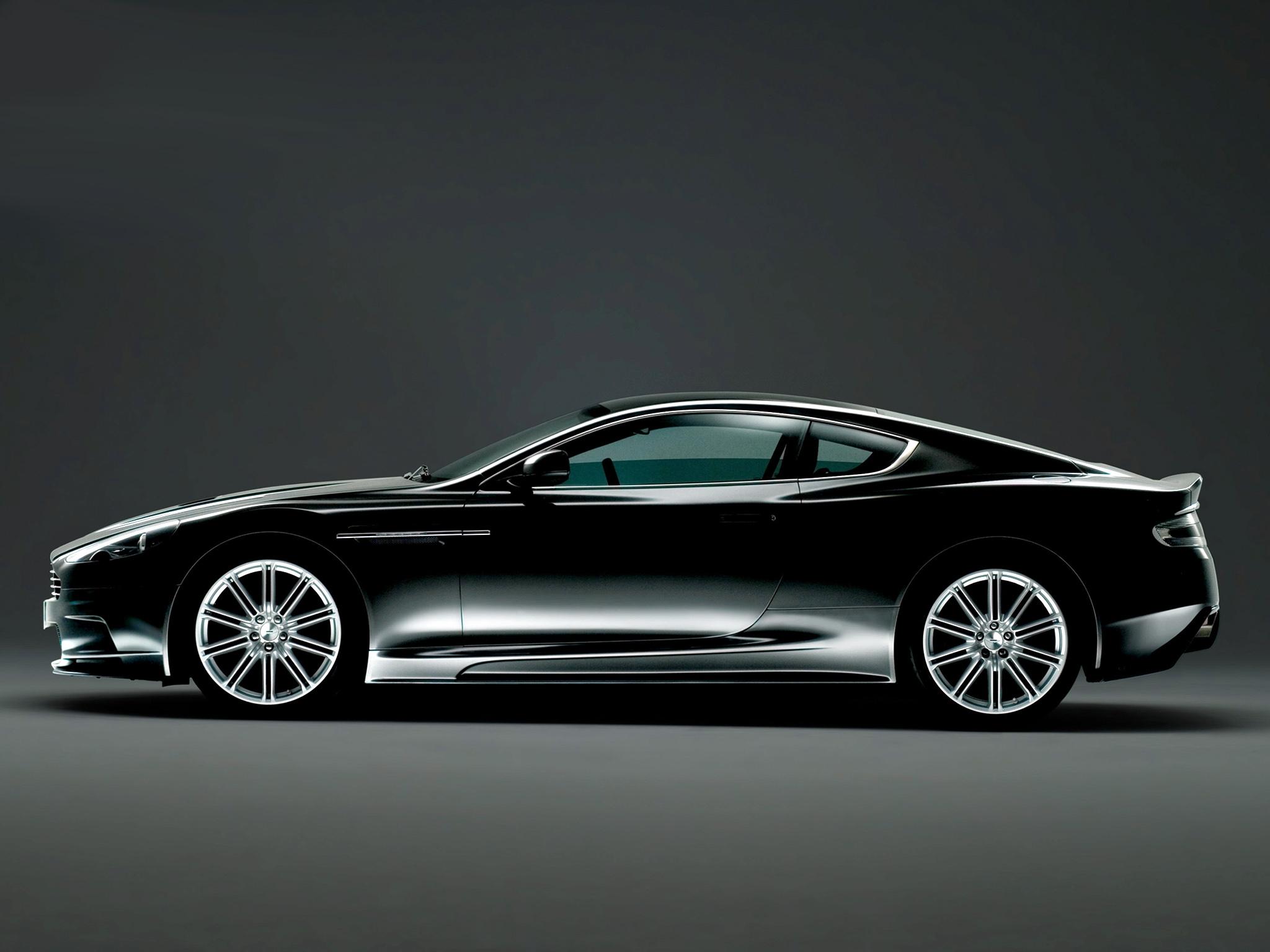 134753 скачать обои Машины, Астон Мартин (Aston Martin), Тачки (Cars), Черный, Вид Сбоку, Dbs, 2008 - заставки и картинки бесплатно