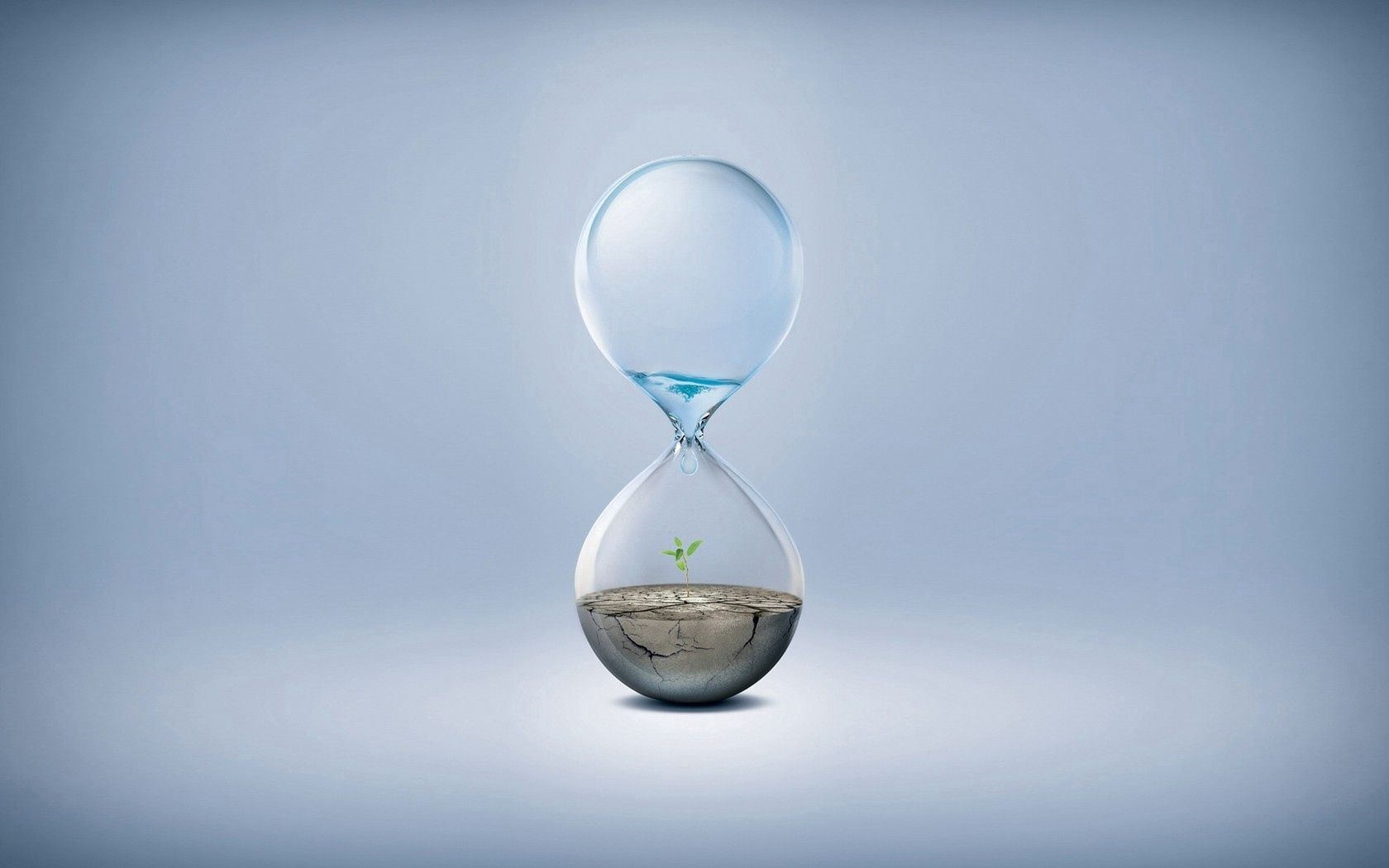 80474 download wallpaper Water, Clock, Plant, Miscellanea, Miscellaneous, Land, Glass, Drop screensavers and pictures for free