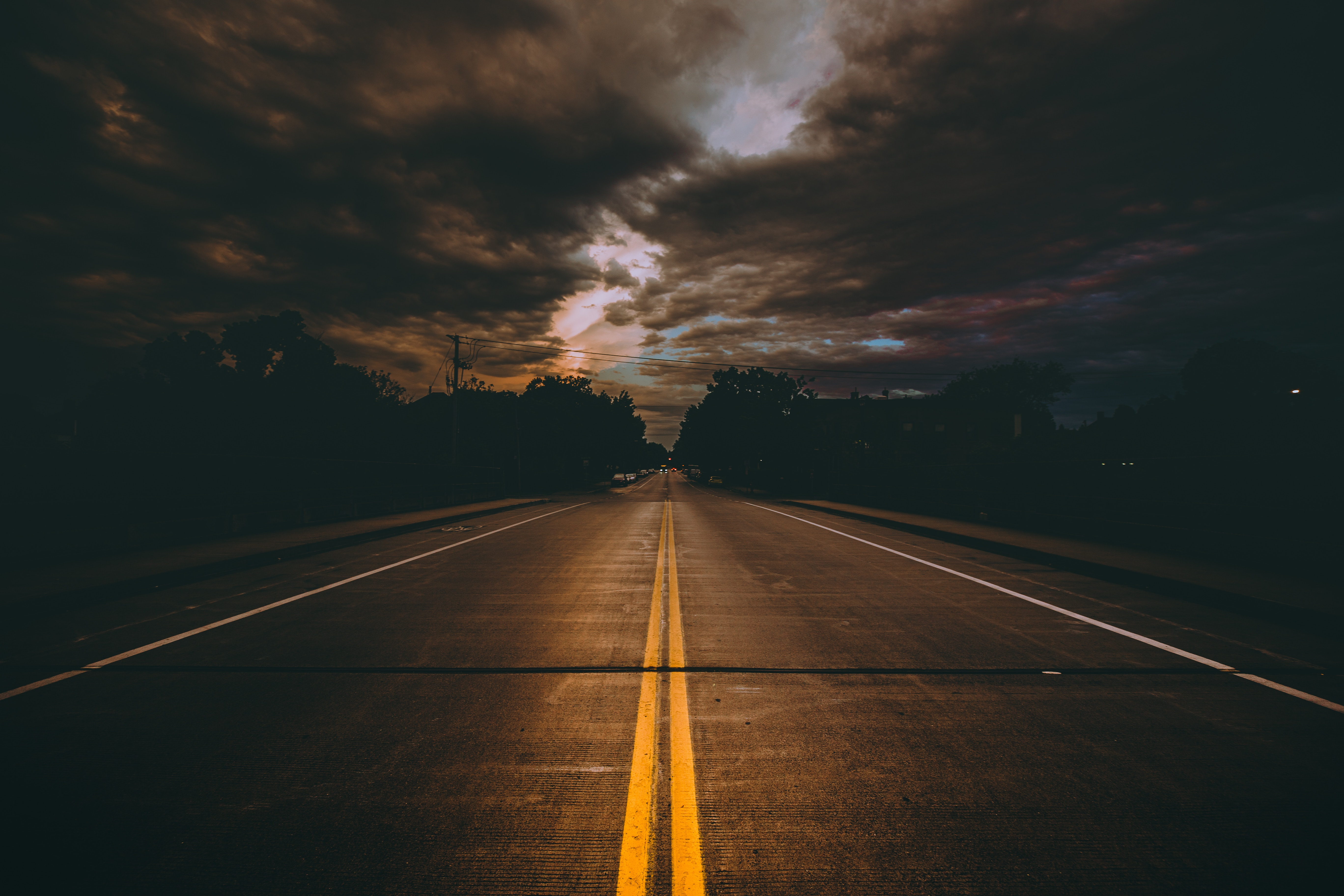 56767 Screensavers and Wallpapers Road for phone. Download Dark, Road, Clouds, Usa, Markup, United States, Mainly Cloudy, Overcast, Minneapolis pictures for free