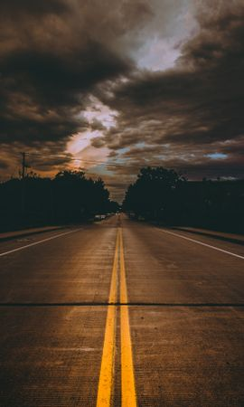 56767 Screensavers and Wallpapers Dark for phone. Download Dark, Road, Markup, Mainly Cloudy, Overcast, Clouds, Minneapolis, Usa, United States pictures for free