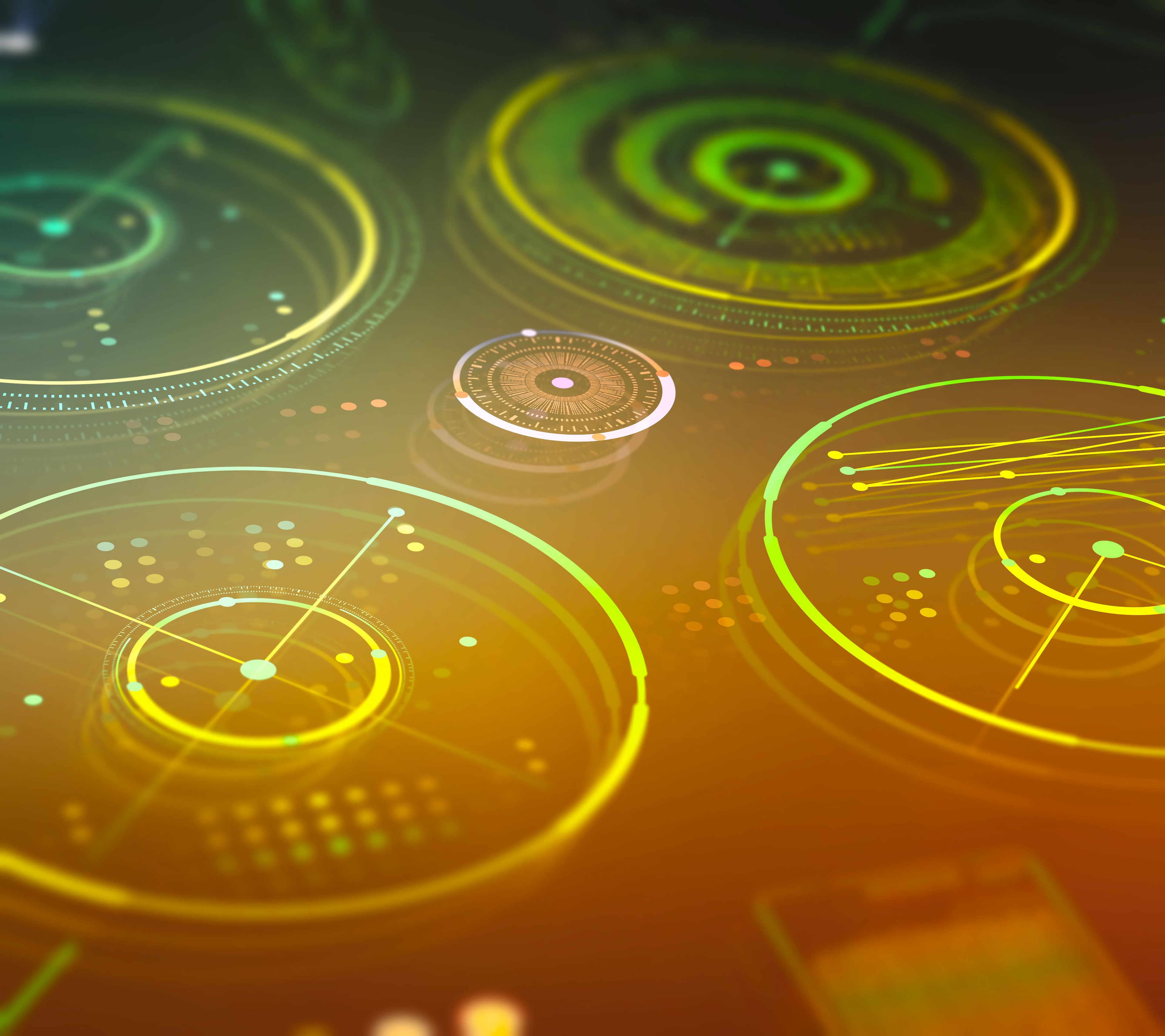 94176 download wallpaper Abstract, Hologram, Circles, Neon, Digital screensavers and pictures for free