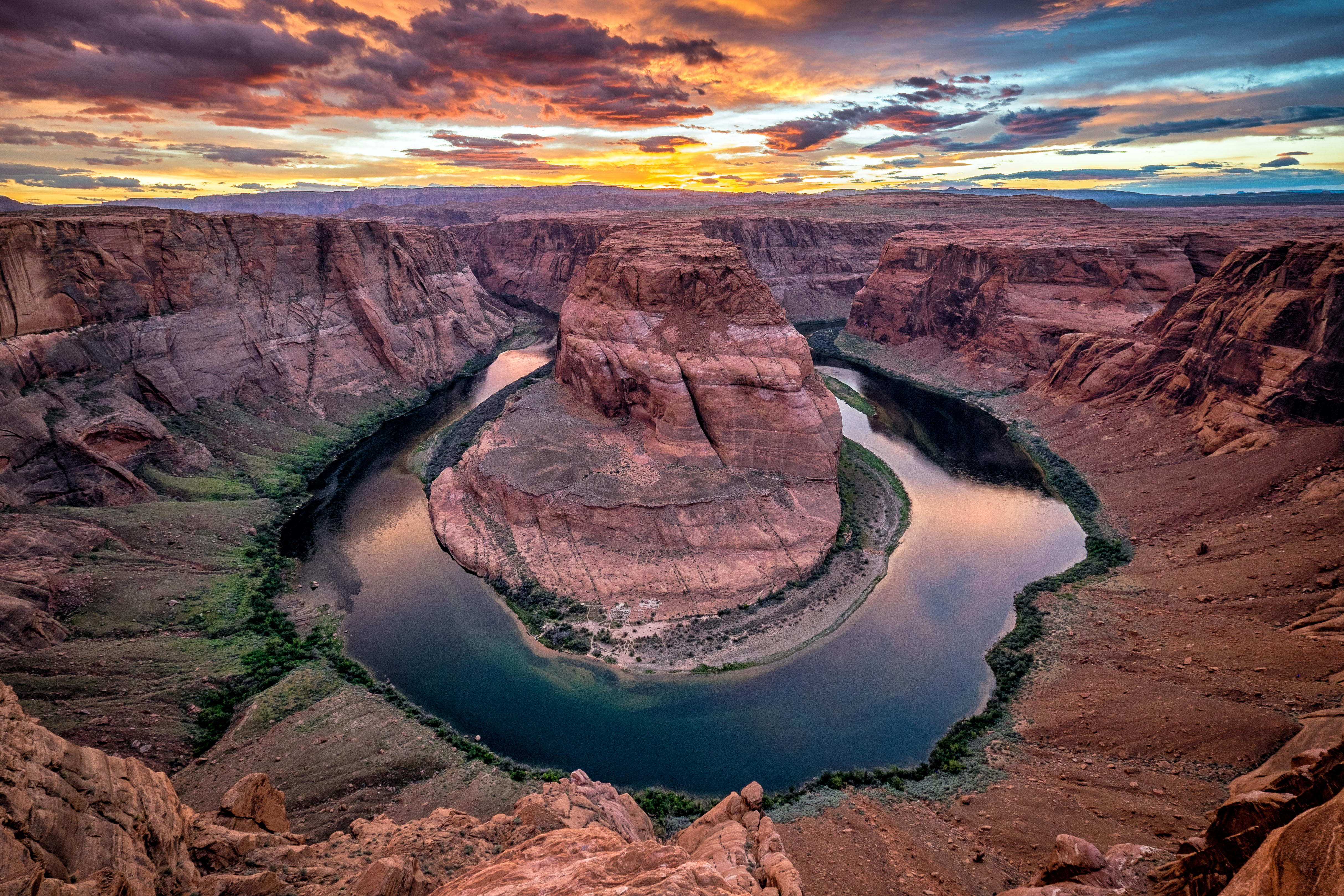 132183 download wallpaper Nature, Canyon, Rivers, Horseshoe, Colorado, Arizona screensavers and pictures for free
