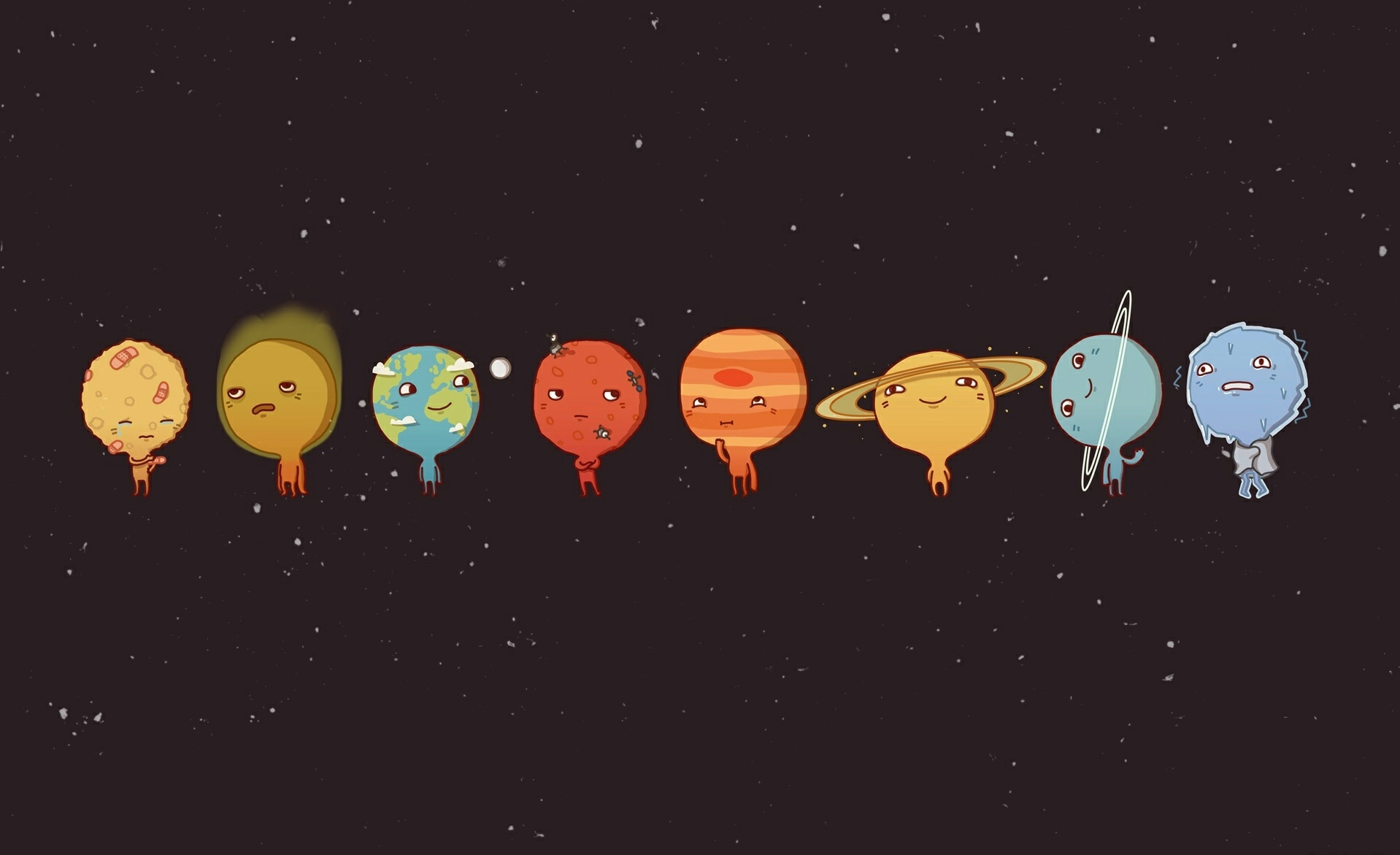 138428 download wallpaper Vector, Art, Picture, Drawing, Sky, Planets screensavers and pictures for free