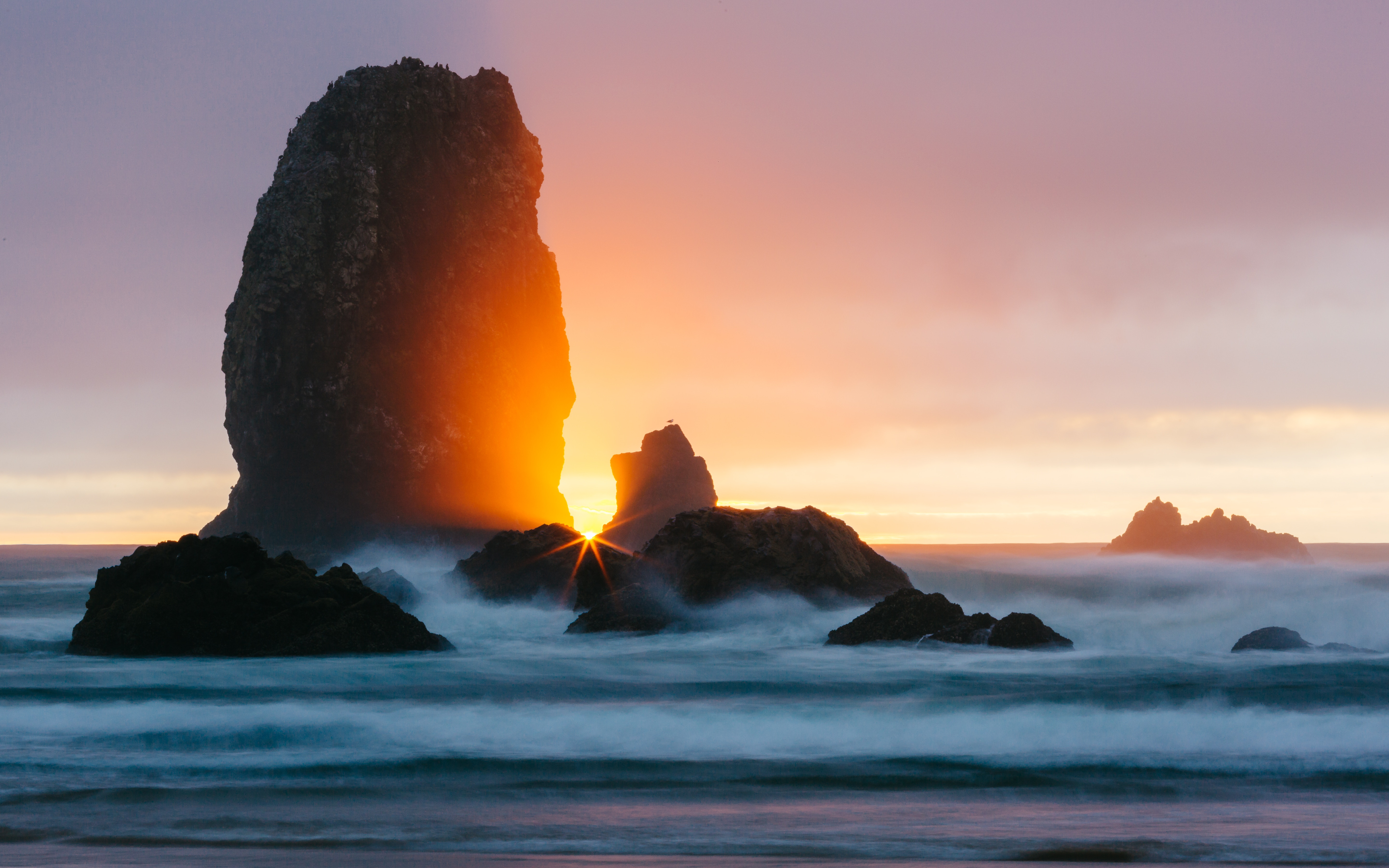 75766 Screensavers and Wallpapers Beams for phone. Download Nature, Sunset, Rock, Beams, Rays, Ocean, Surf pictures for free