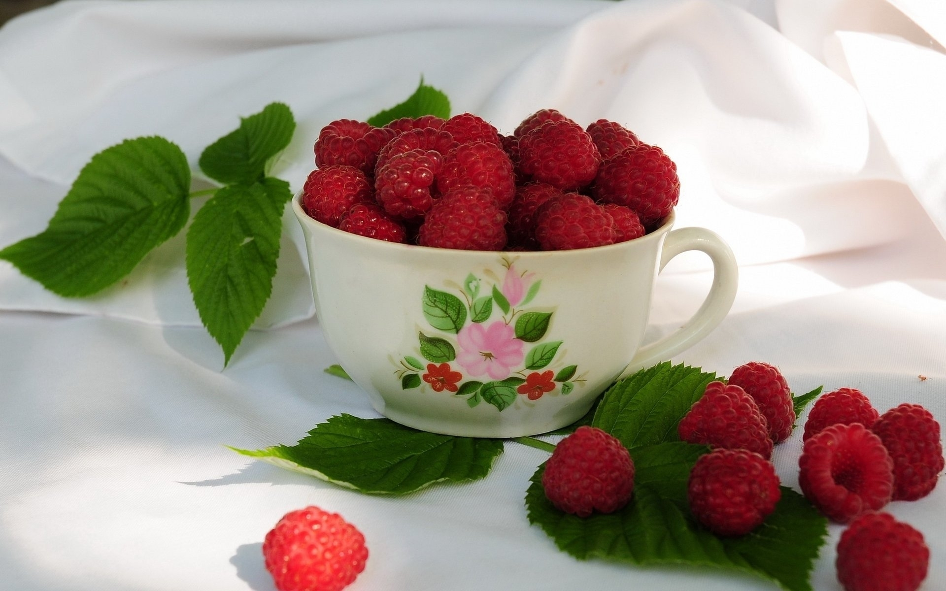 24818 download wallpaper Food, Cups, Raspberry, Berries screensavers and pictures for free