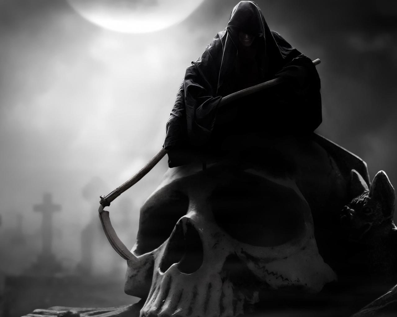 21701 Заставки и Обои Смерть на телефон. Скачать Фэнтези, Смерть, Скелеты картинки бесплатно