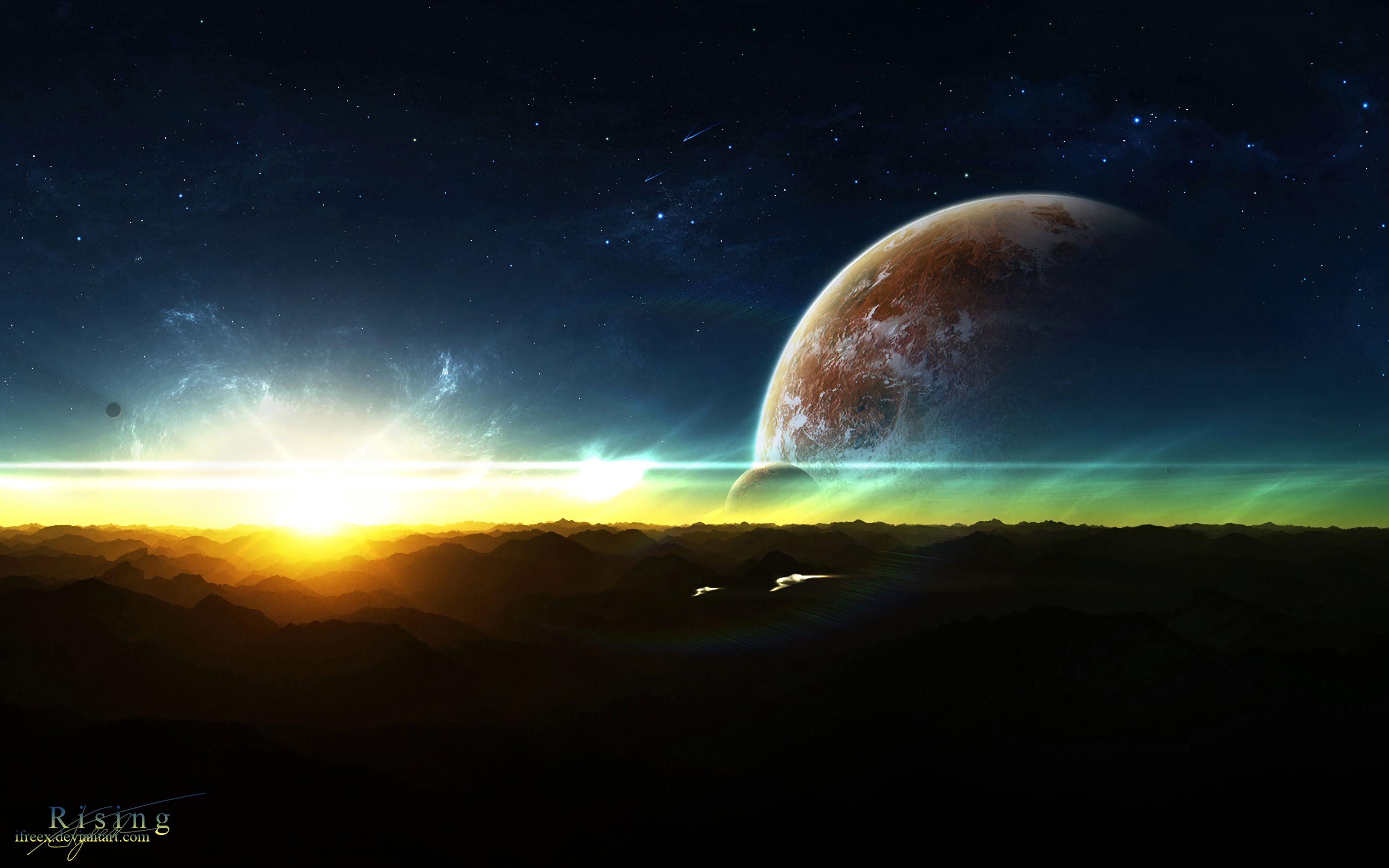 156724 fond d'écran 720x1280 sur votre téléphone gratuitement, téléchargez des images Planètes, Univers, Shining, Horizon, Satellite 720x1280 sur votre mobile