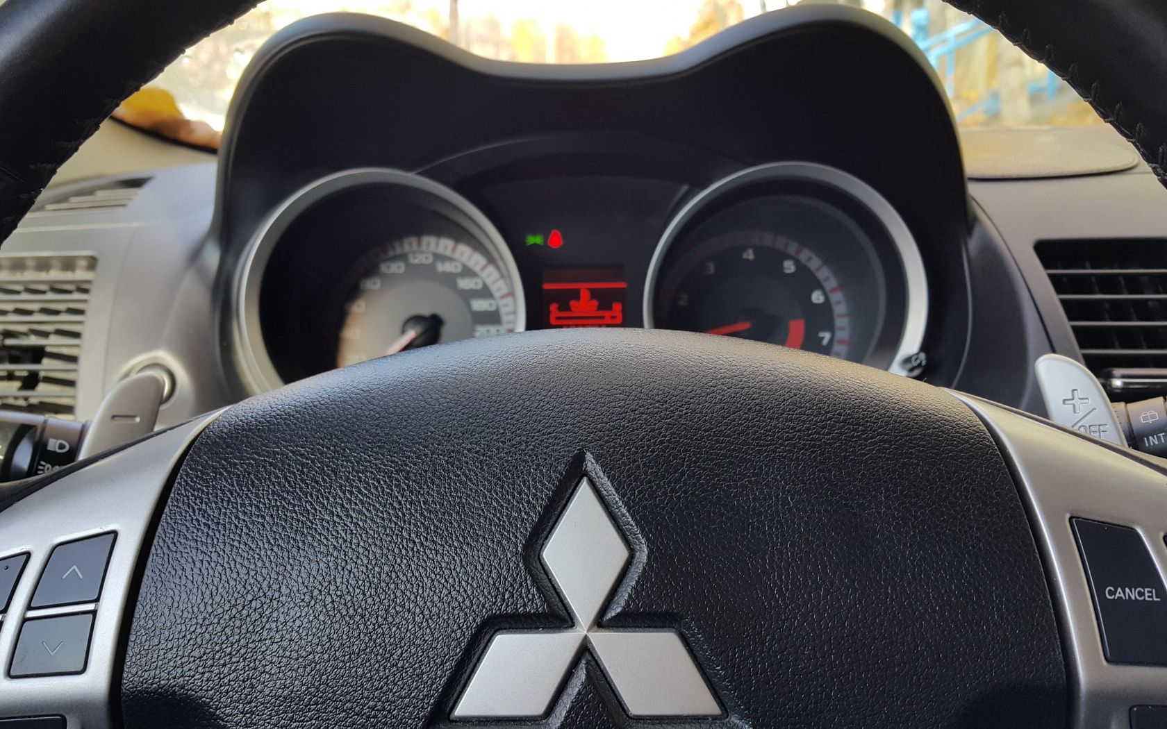 155329 download wallpaper Cars, Mitsubishi, Steering Wheel, Rudder, Logo, Logotype screensavers and pictures for free