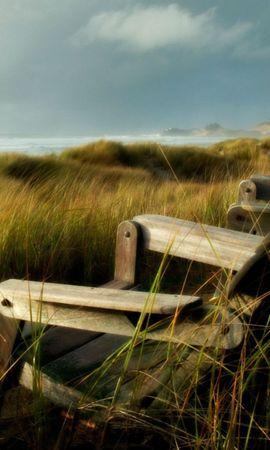 24799 скачать обои Пейзаж, Трава, Море - заставки и картинки бесплатно