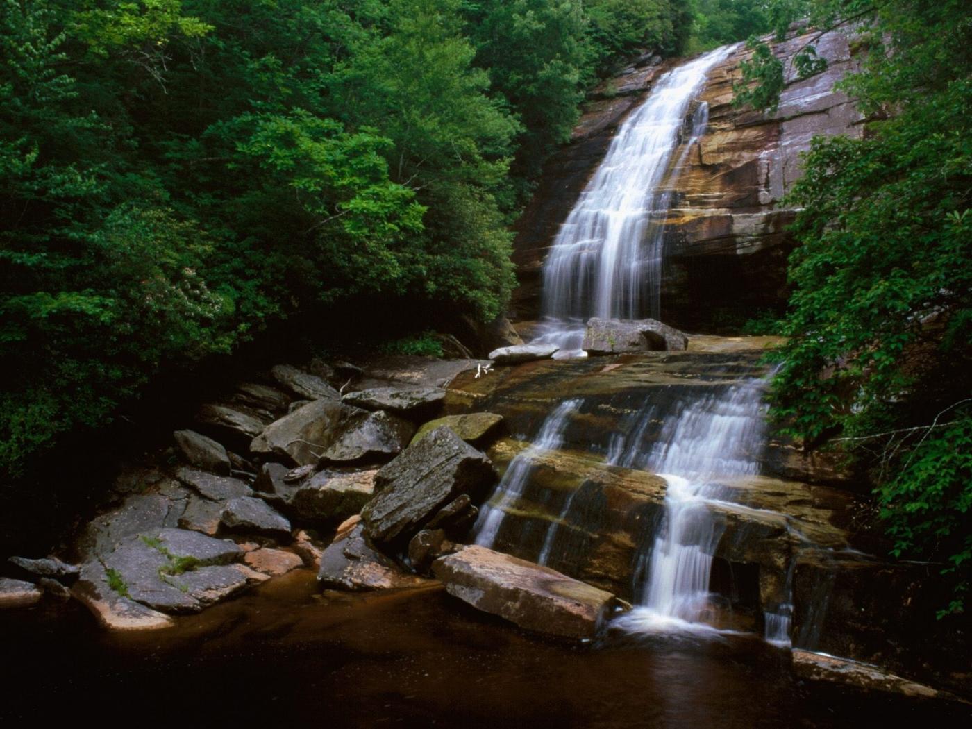 27191 скачать обои Пейзаж, Река, Горы, Водопады - заставки и картинки бесплатно