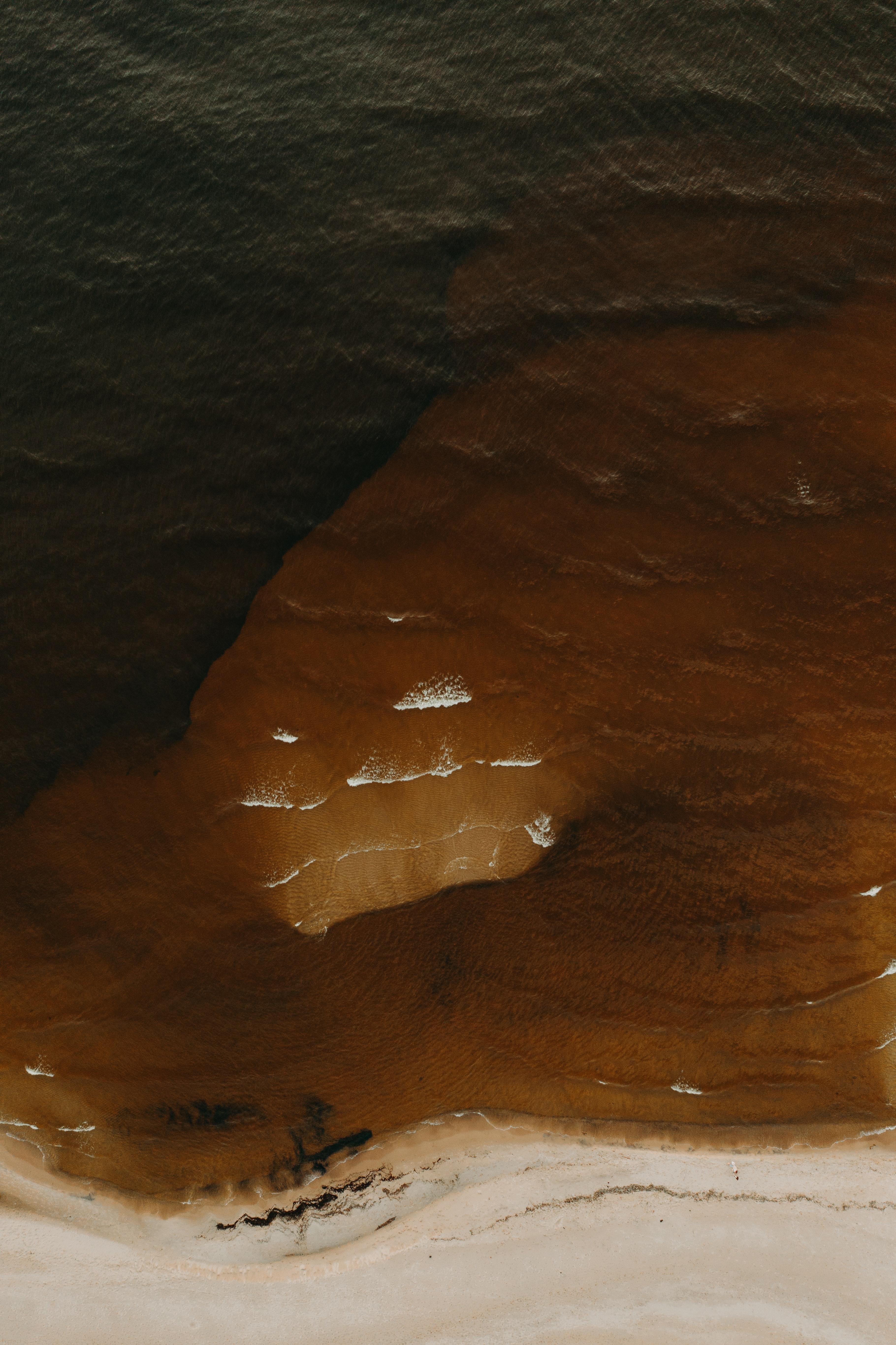 151109壁紙のダウンロード自然, ビーチ, サンド, 上から見る, 水-スクリーンセーバーと写真を無料で