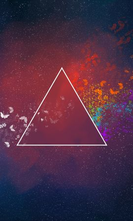 58062 descargar fondo de pantalla Abstracción, Triángulo, Manchas, Mariposas, Patrones: protectores de pantalla e imágenes gratis