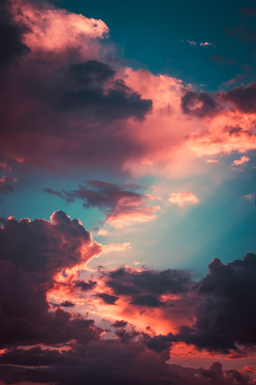 93414 скачать обои Небо, Закат, Облака, Природа, Тучи, Пористый - заставки и картинки бесплатно