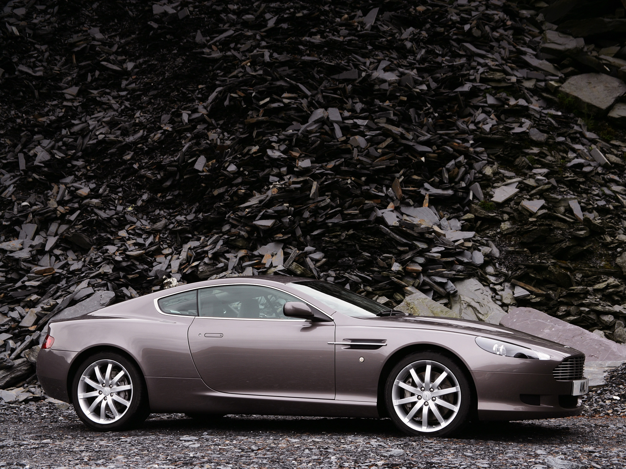 131800 Screensavers and Wallpapers Aston Martin for phone. Download Auto, Aston Martin, Cars, Grey, Side View, Style, 2004, Db9 pictures for free