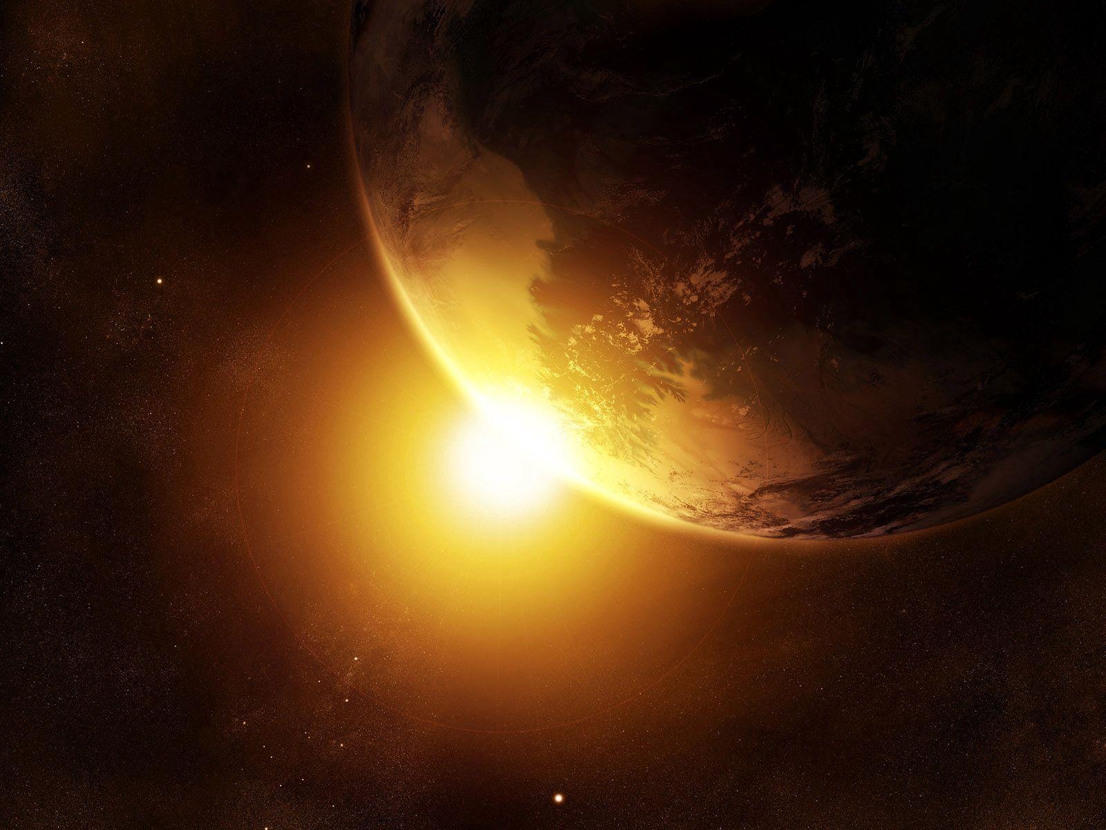 75272 скачать обои Абстракция, Планета, Свет, Яркий, Фон - заставки и картинки бесплатно