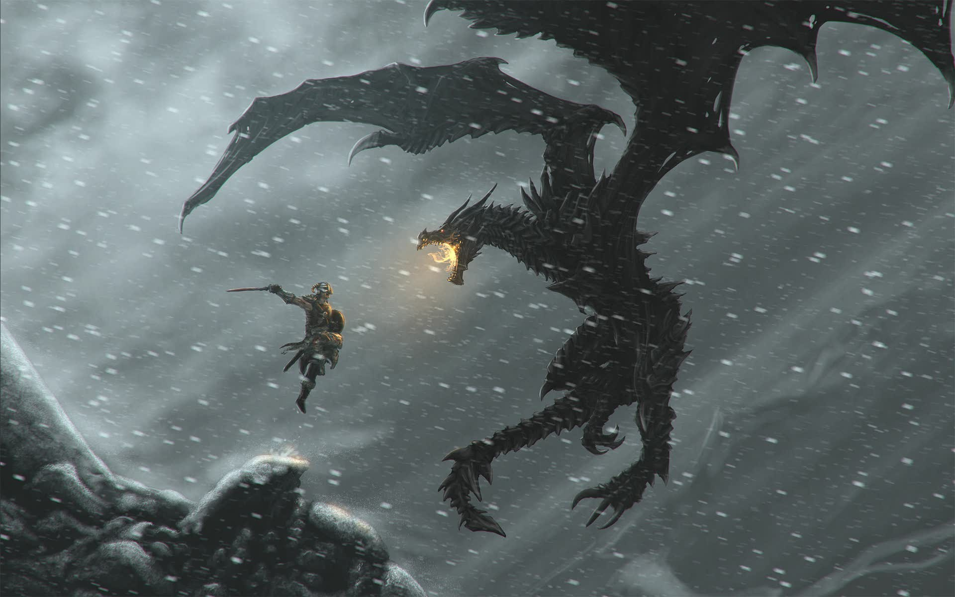 34946 Screensavers and Wallpapers Dragons for phone. Download Games, Dragons, Elder Scrolls pictures for free