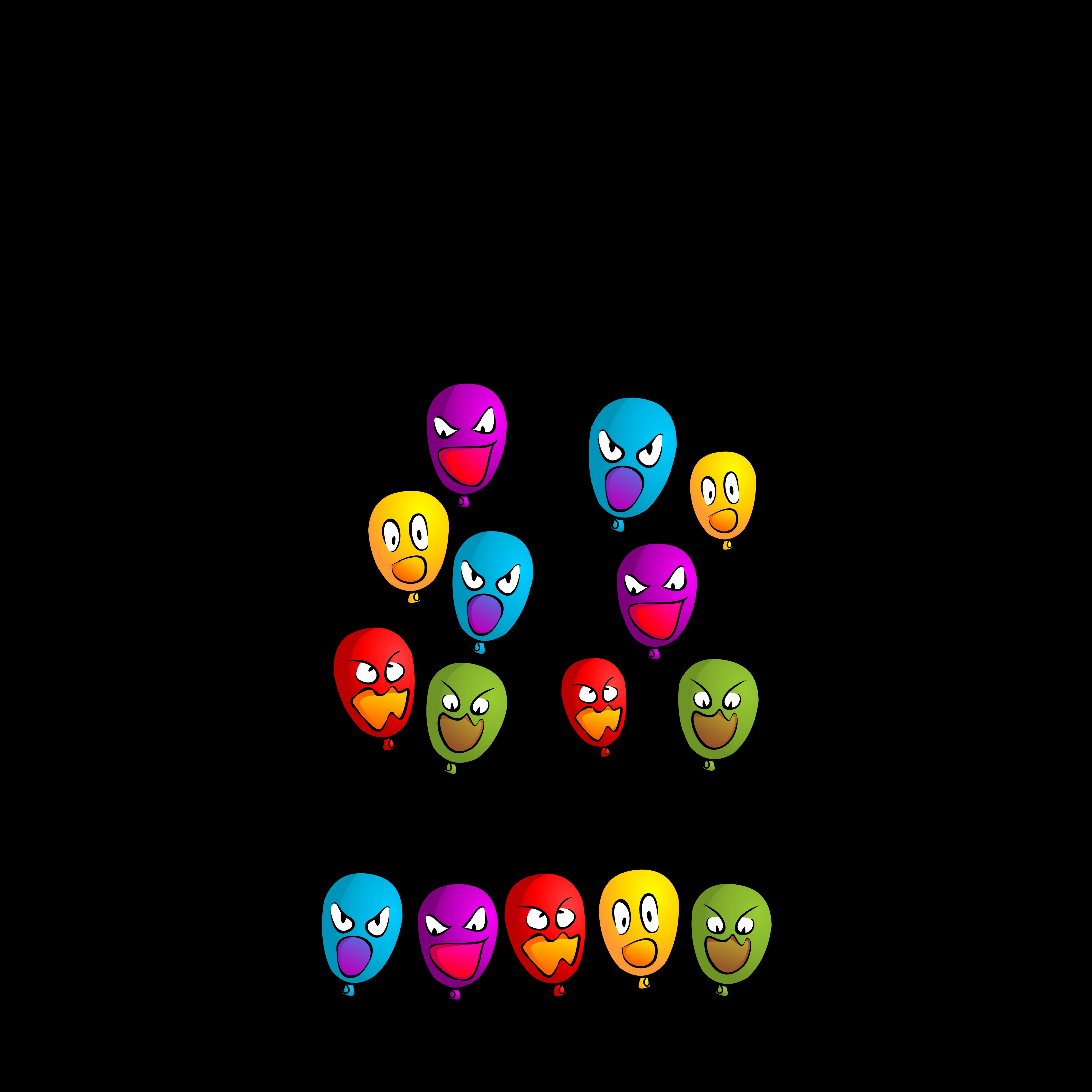 136038 Screensavers and Wallpapers Emotions for phone. Download Balloons, Vector, Multicolored, Emotions, Air Balloons, Smileys, Emoticons pictures for free