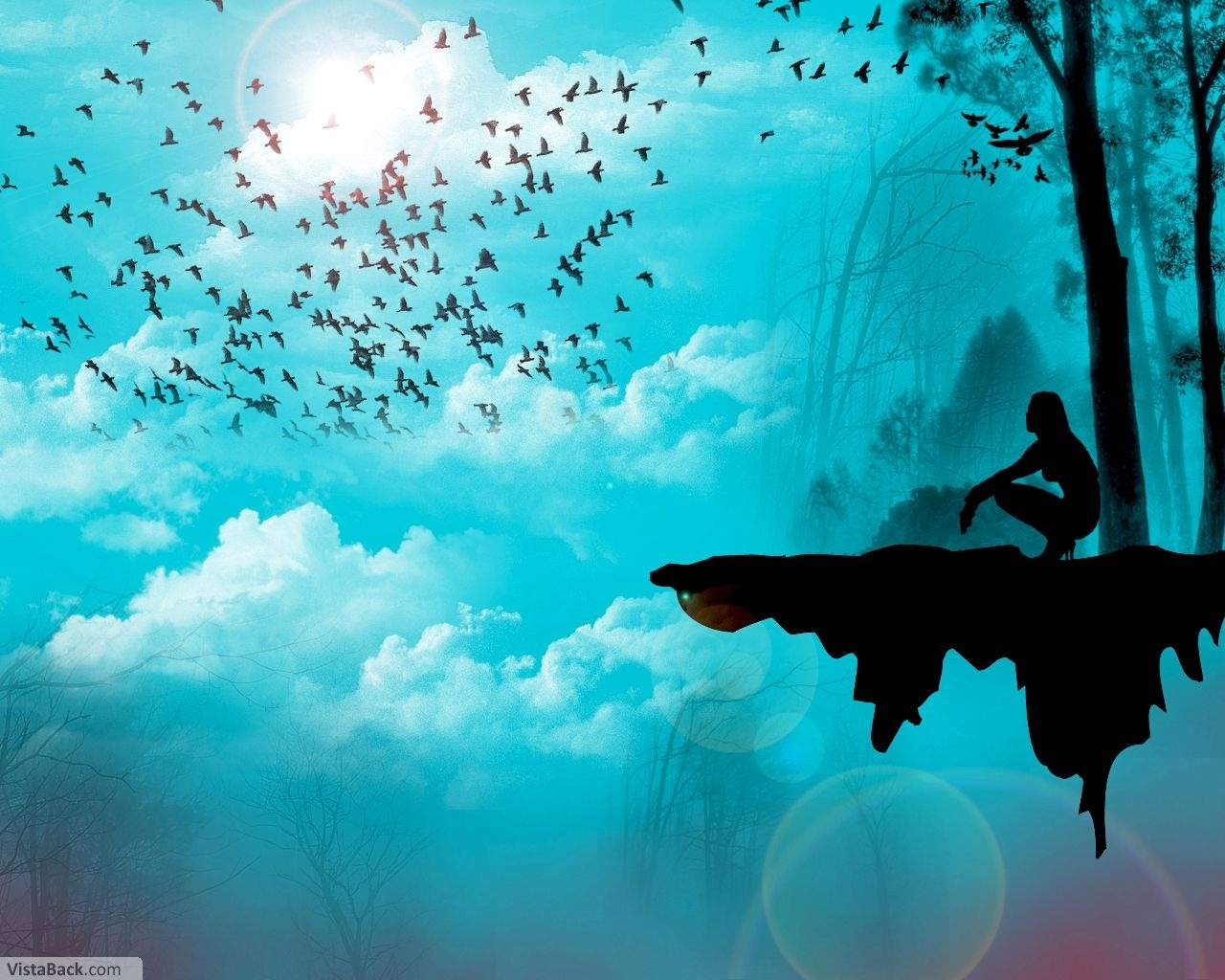 477 download wallpaper Landscape, Sky, Art, Sun screensavers and pictures for free
