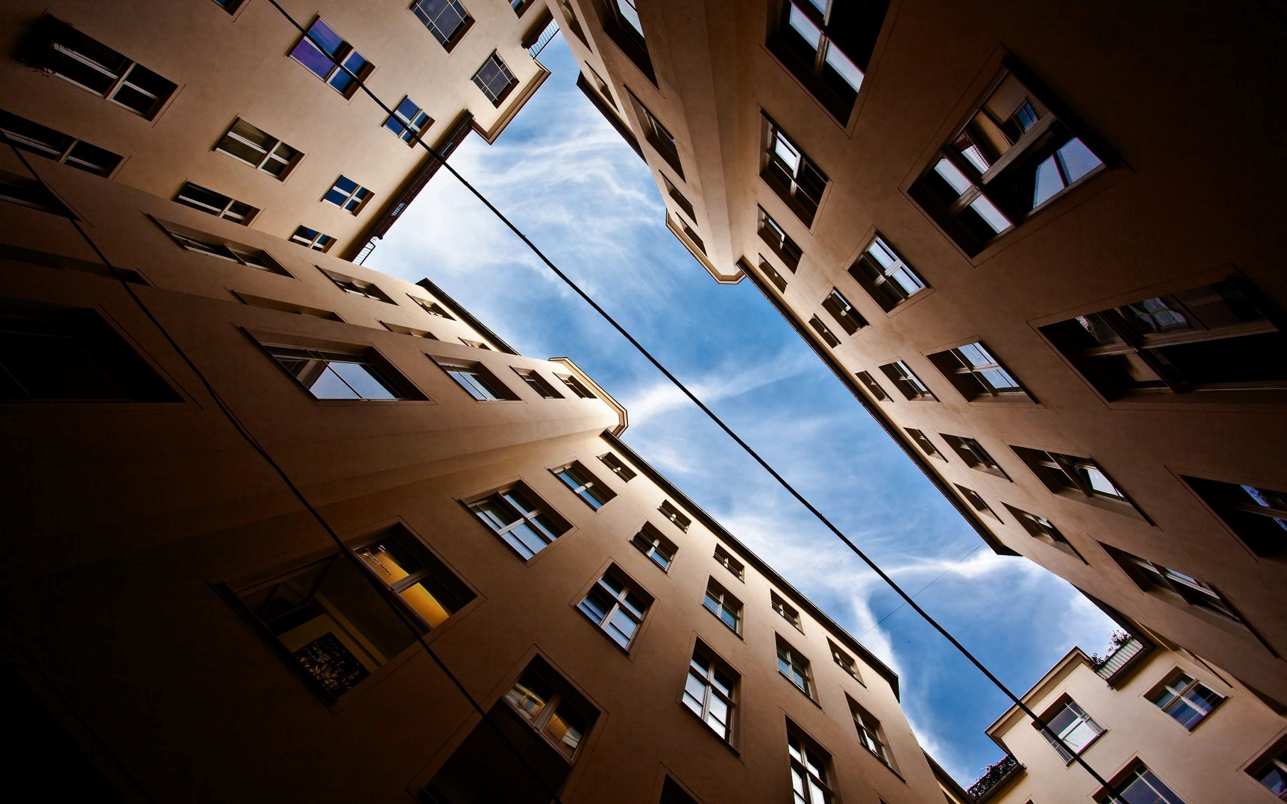 74062 download wallpaper Cities, Sky, Up, Building, Top, Multi-Storey, Multistory screensavers and pictures for free