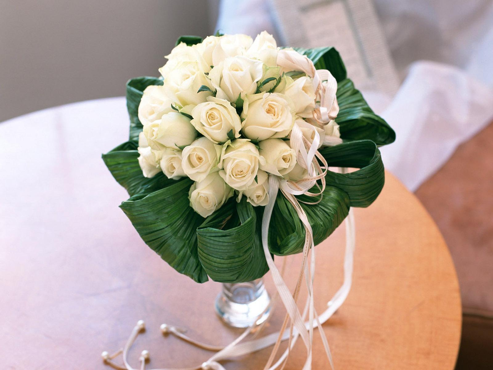 12533 Hintergrundbild herunterladen Feiertage, Blumen, Pflanzen, Roses, Bouquets, Hochzeit - Bildschirmschoner und Bilder kostenlos
