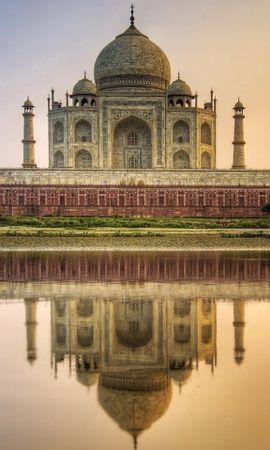 23885 baixar papel de parede Paisagem, Rios, Arquitetura, Taj Mahal - protetores de tela e imagens gratuitamente
