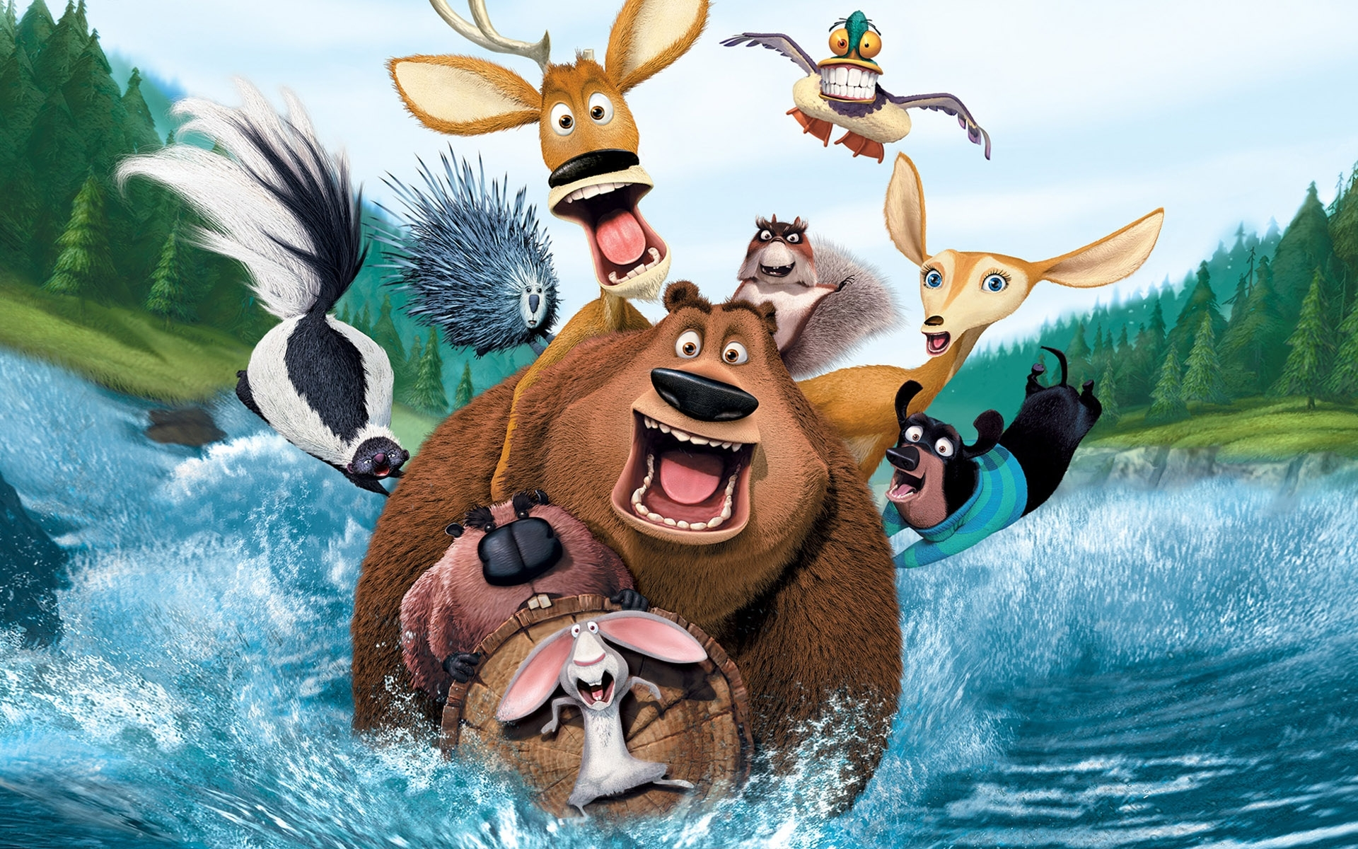 8302 download wallpaper Cartoon, Open Season screensavers and pictures for free