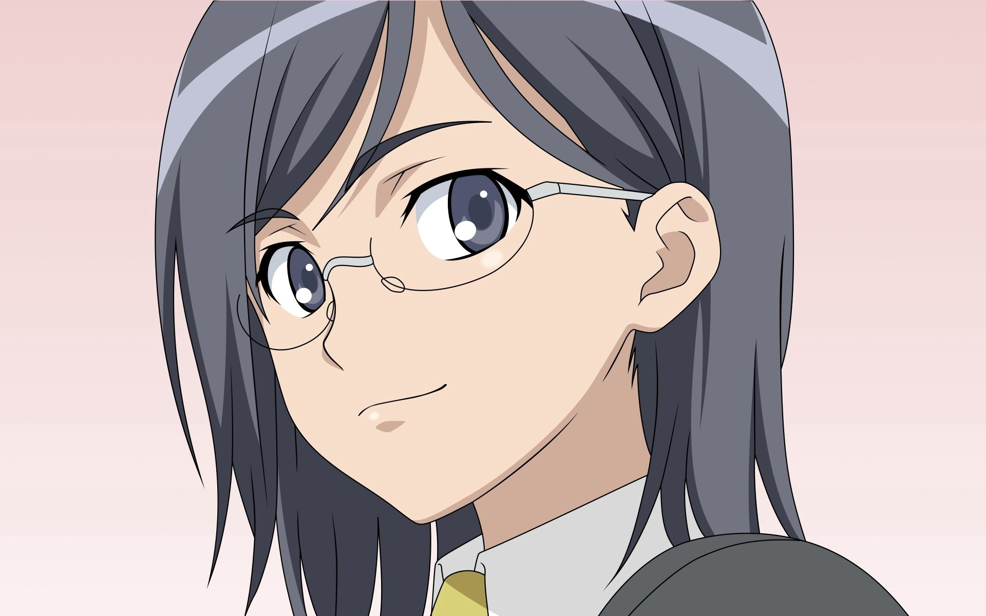 119044 Screensavers and Wallpapers Brunette for phone. Download Anime, Girl, Glasses, Spectacles, Brunette pictures for free