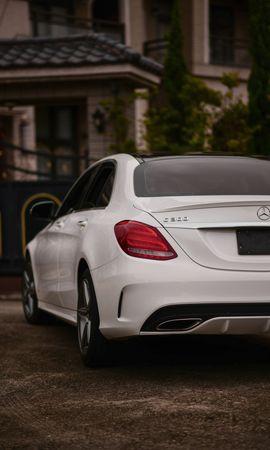 127022 télécharger le fond d'écran Voitures, Mercedes-Benz C300, Mercedes, Voiture, Vue Arrière - économiseurs d'écran et images gratuitement
