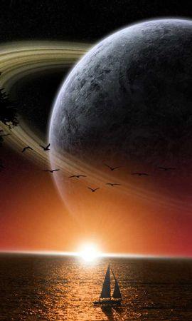 6174 télécharger le fond d'écran Paysage, Fantaisie, Planètes, Mer - économiseurs d'écran et images gratuitement