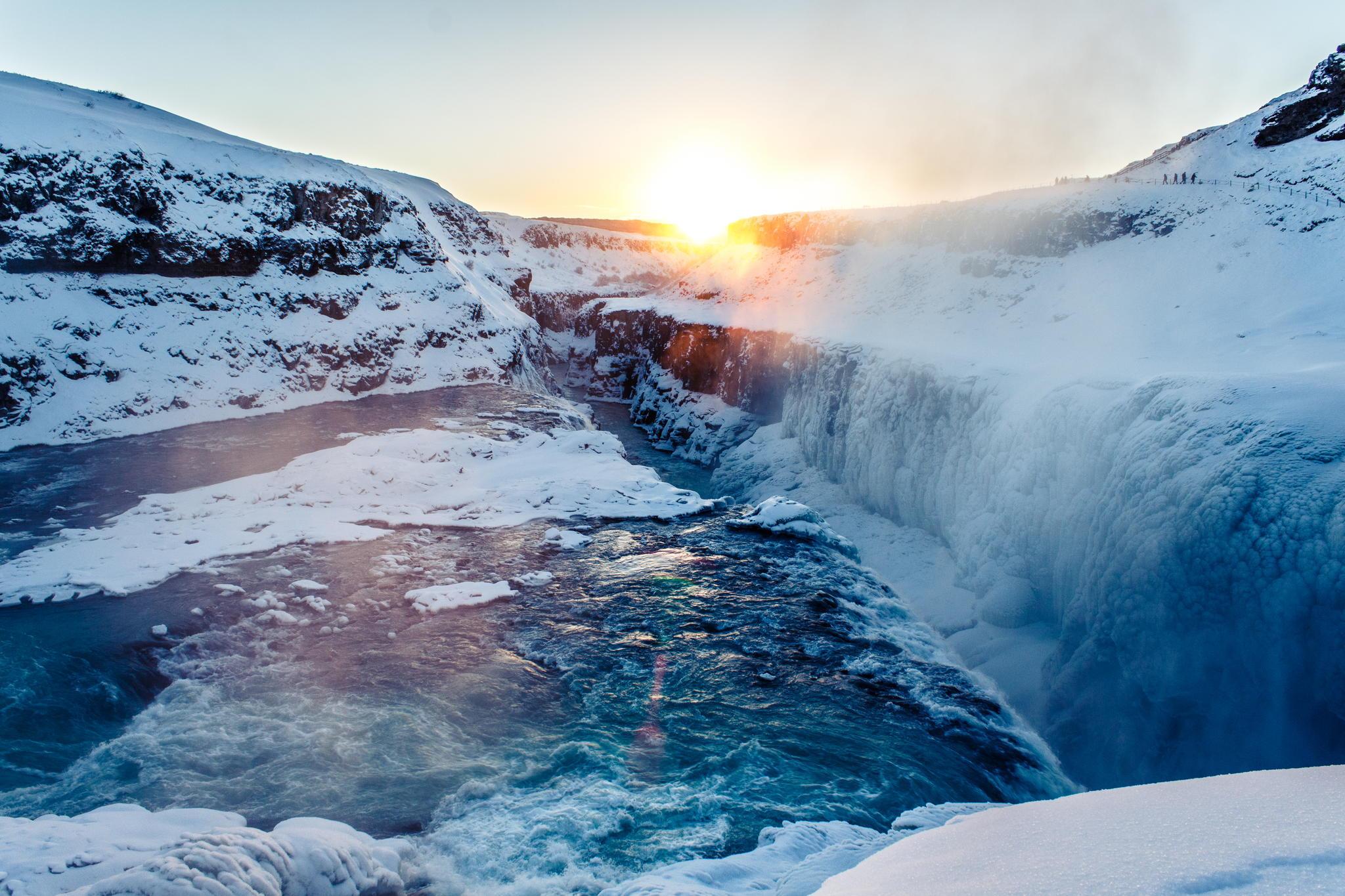 66362 скачать обои Природа, Водопад, Лед, Снег - заставки и картинки бесплатно
