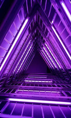 101058 Protetores de tela e papéis de parede Violeta em seu telefone. Baixe Minimalismo, Escadaria, Escada, Roxo, Violeta, Brilhar, Luz fotos gratuitamente