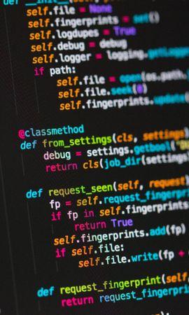 お使いの携帯電話の137346スクリーンセーバーと壁紙テクノロジー。 テクノロジー, コード, プログラミング, テキスト, 文字列, 線, 色とりどり, モトリーの写真を無料でダウンロード