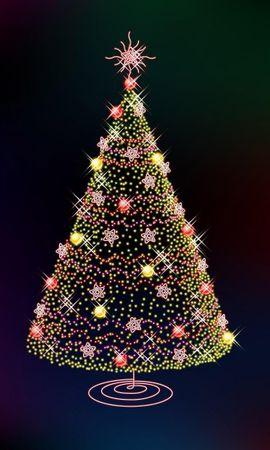 2197 télécharger le fond d'écran Fêtes, Arbres, Nouvelle Année, Sapins, Noël, Dessins - économiseurs d'écran et images gratuitement