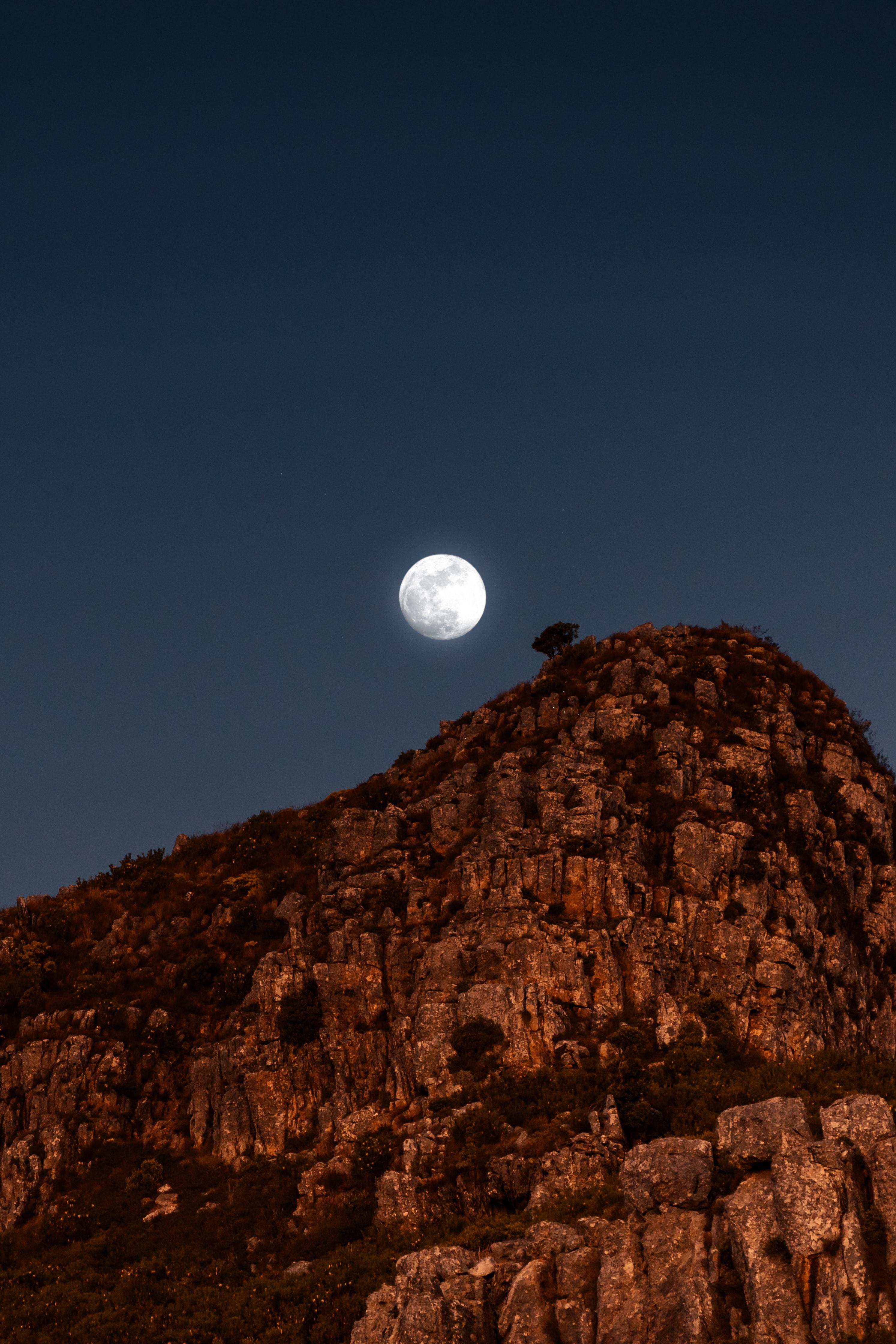 88188 免費下載壁紙 性质, 月球, 石头, 岩石, 夜, 满月, 山 屏保和圖片