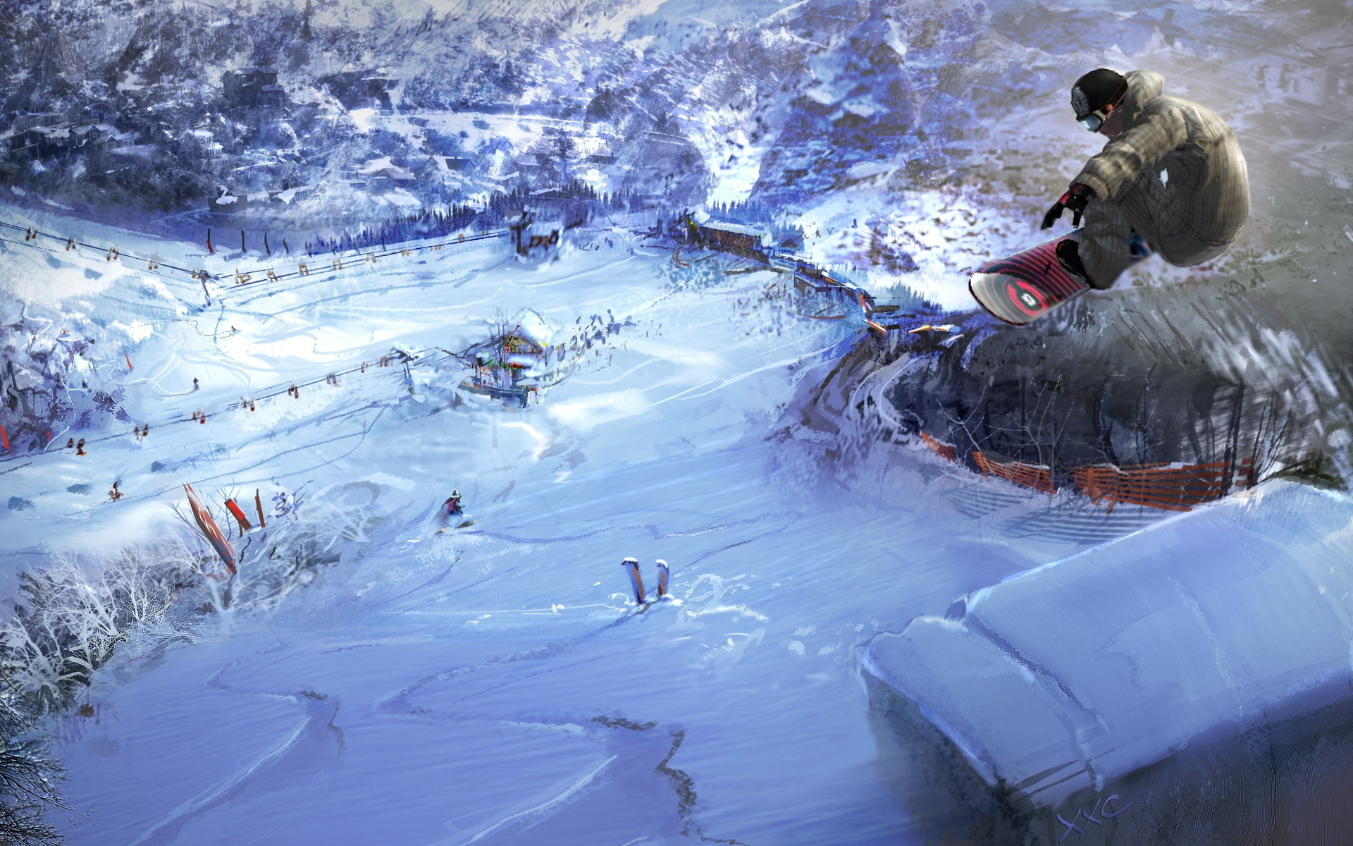 35974 download wallpaper Sports, Snowboarding screensavers and pictures for free
