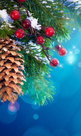 32283 скачать обои Праздники, Фон, Шишки, Новый Год (New Year) - заставки и картинки бесплатно