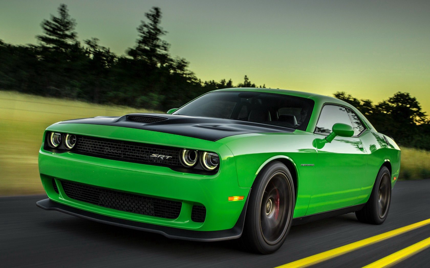 115670 free download Green wallpapers for phone, Cars, 2015, Dodge, Challenger, Side View, Speed Green images and screensavers for mobile