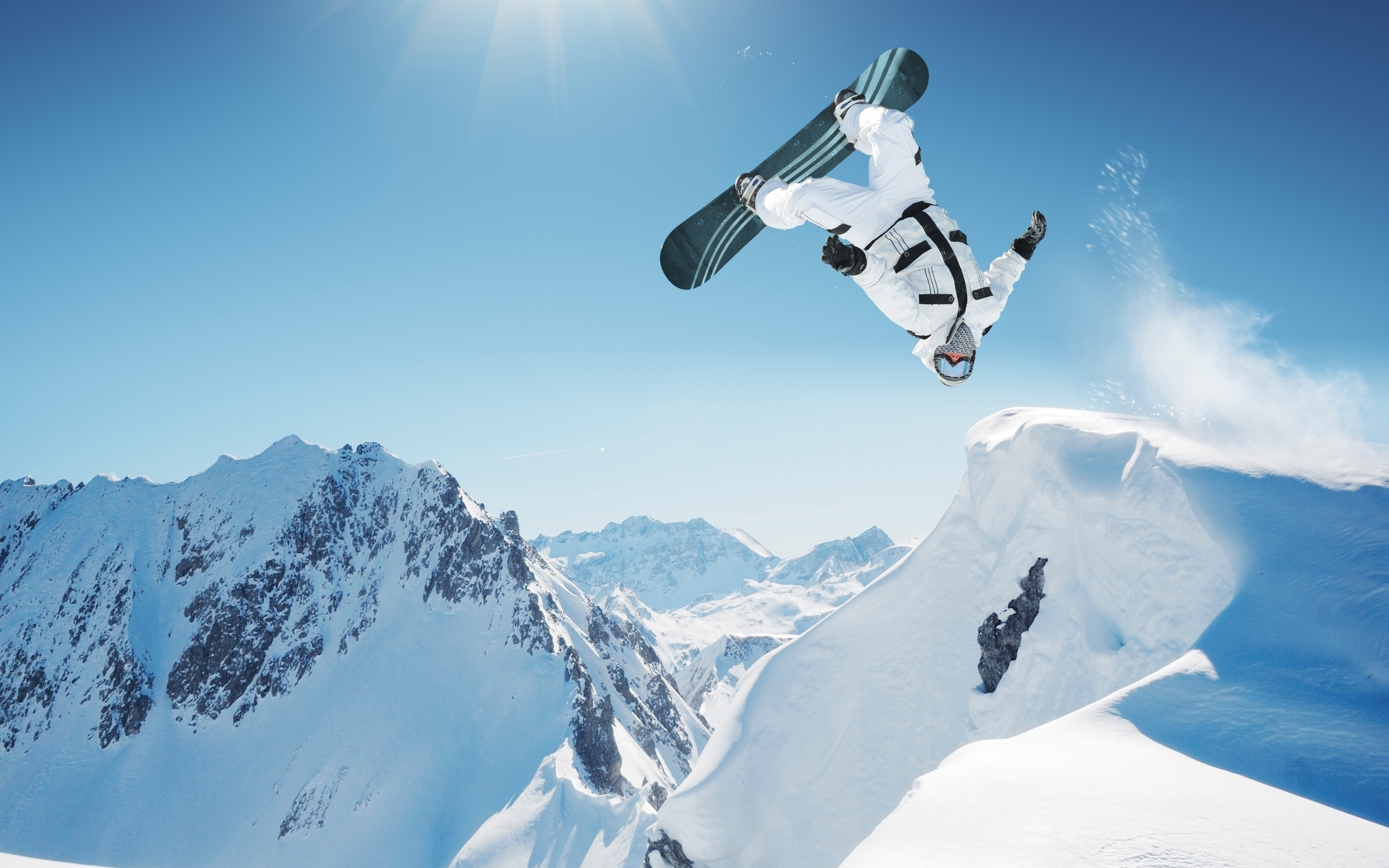 47344 download wallpaper Sports, Landscape, Mountains, Snow, Snowboarding screensavers and pictures for free