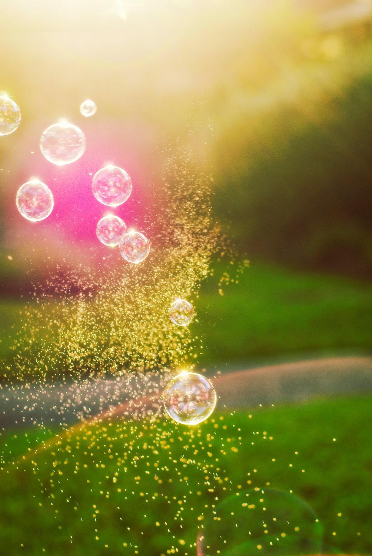 22303 скачать обои Пейзаж, Трава, Солнце, Пузыри - заставки и картинки бесплатно