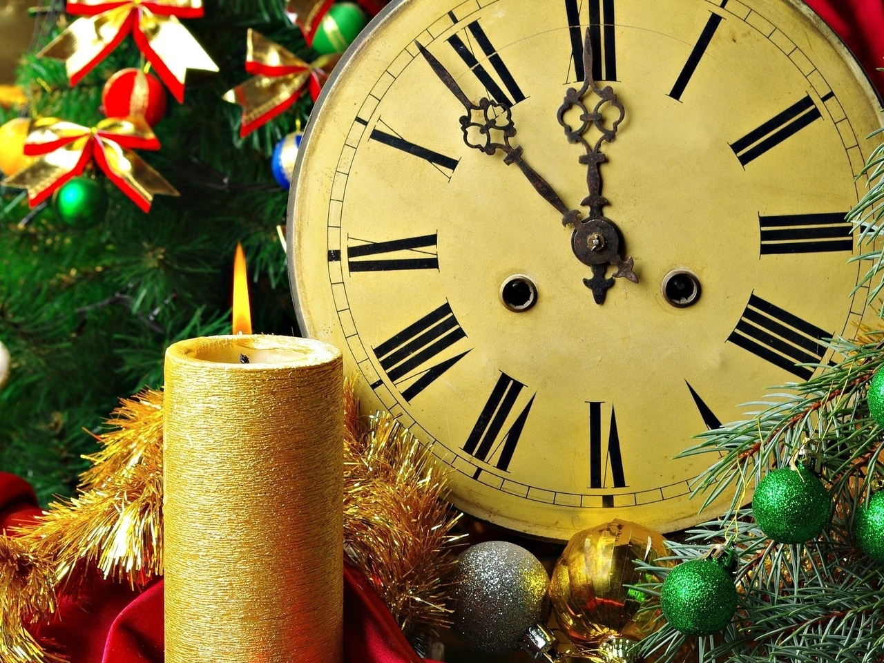26201 скачать обои Праздники, Фон, Новый Год (New Year), Часы - заставки и картинки бесплатно