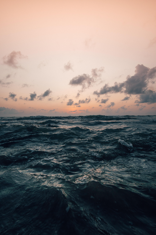 157350 скачать обои Шторм, Природа, Море, Волны, Горизонт, Небо Облака - заставки и картинки бесплатно